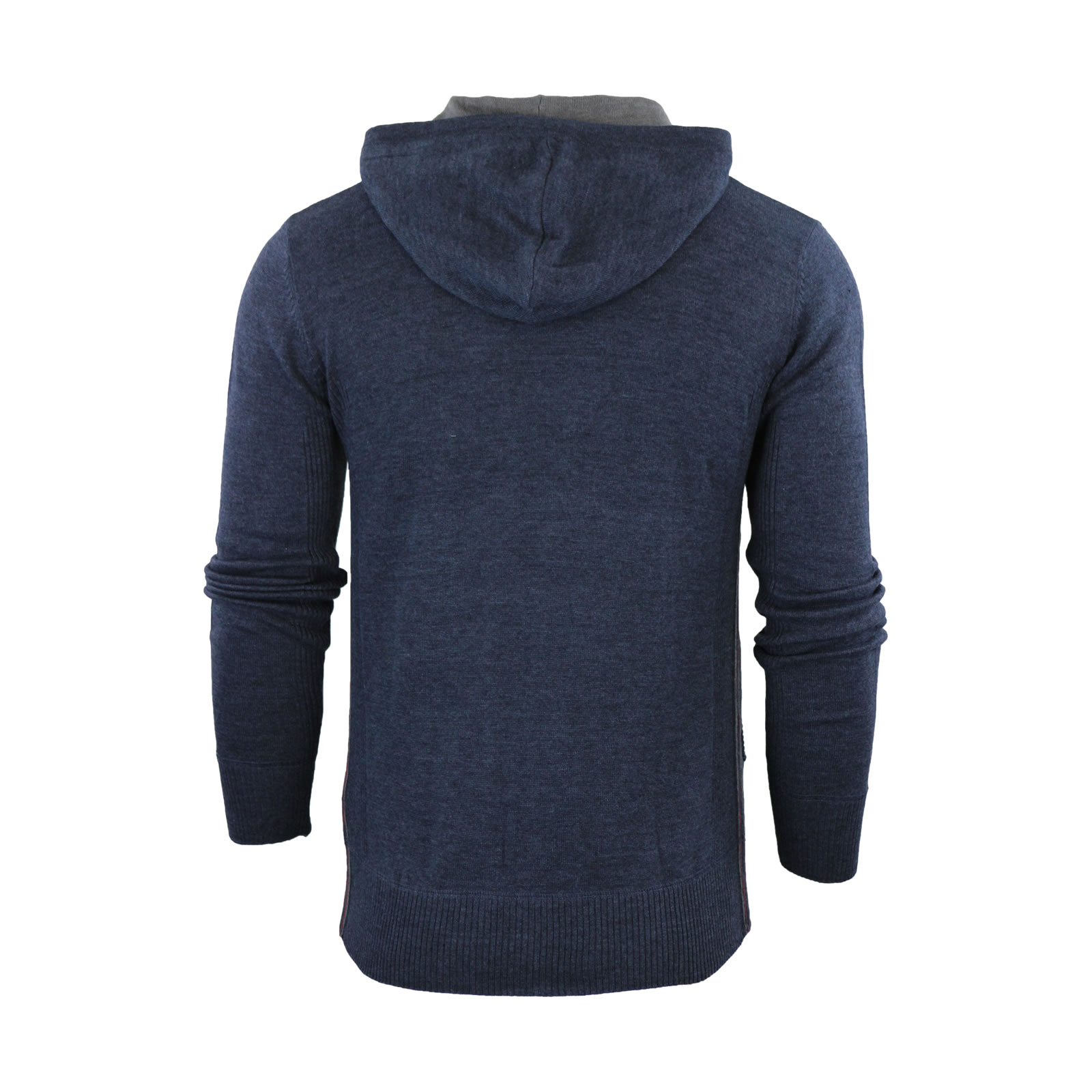 Mens Hoodie Jumper Ringspun Junip Hooded Knitted Sweater ...
