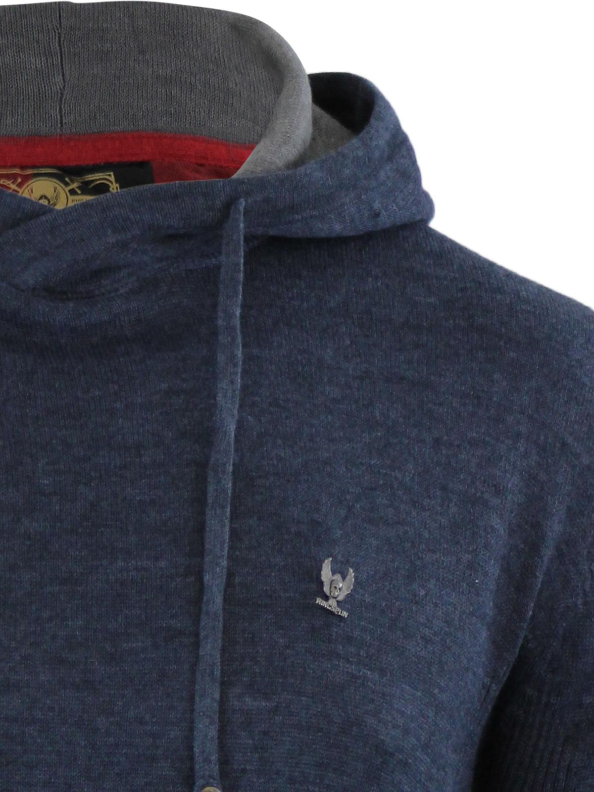 Mens Hoodie Jumper Ringspun Junip Hooded Knitted Sweater ...