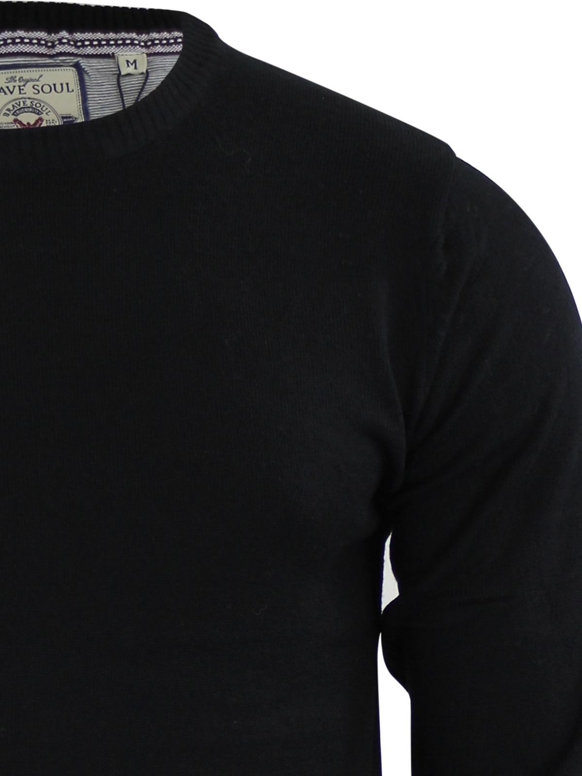 Mens-Jumper-Brave-Soul-Urbain-Knitted-Crew-Neck-Sweater thumbnail 4