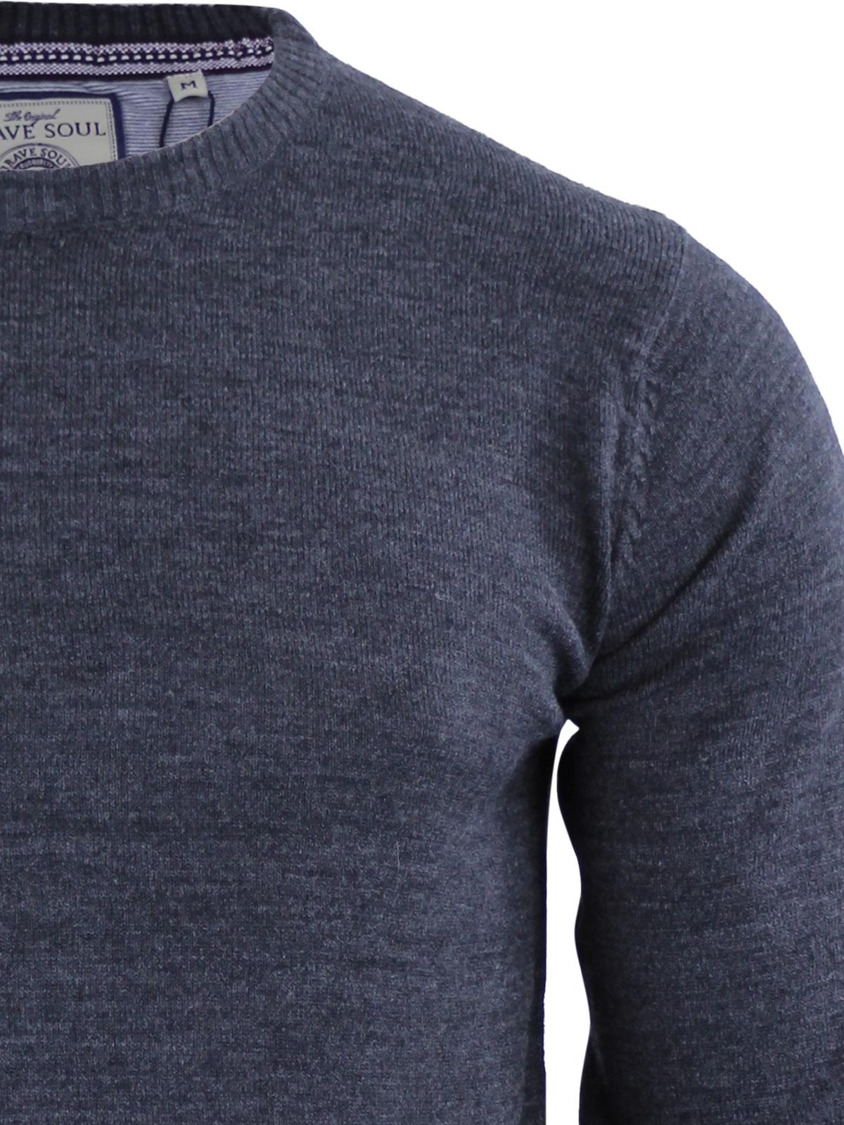 Mens-Jumper-Brave-Soul-Urbain-Knitted-Crew-Neck-Sweater thumbnail 10