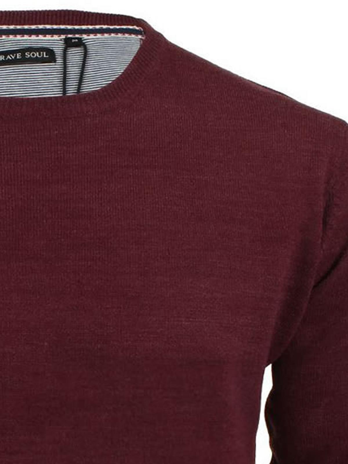 Jersey-para-hombre-Brave-Soul-Parsec-de-punto-Jersey-De-Cuello-Redondo miniatura 13