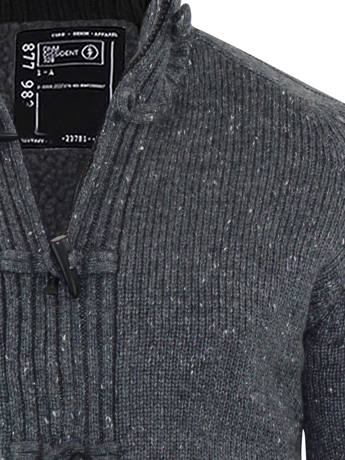 Mens Cardigan Jumper Dissident Lothian Sherpa Fleece Lined Zip Up ...