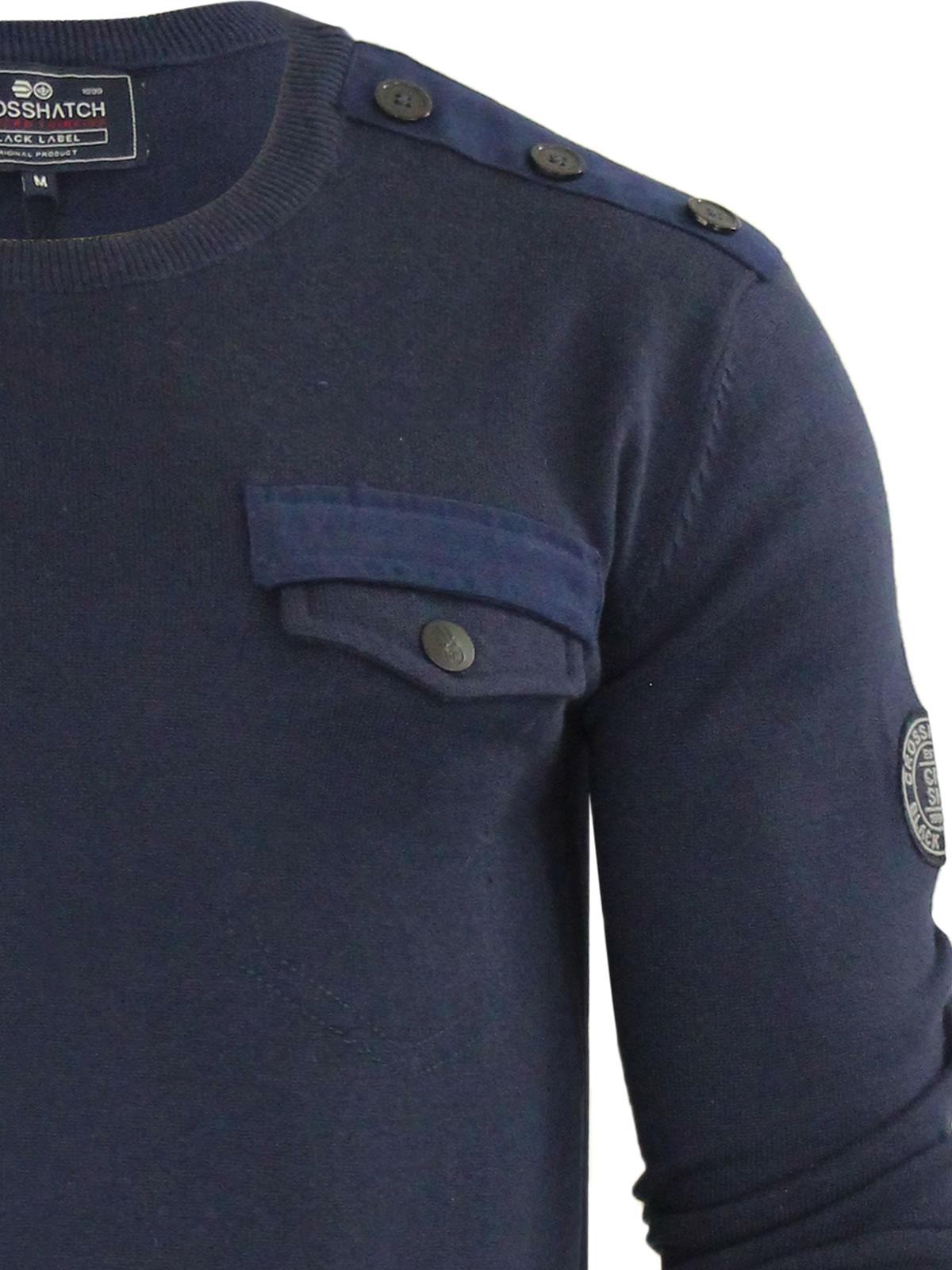 herren-pullover-crosshatch-barrowell-rundhals-strickpullover Indexbild 10
