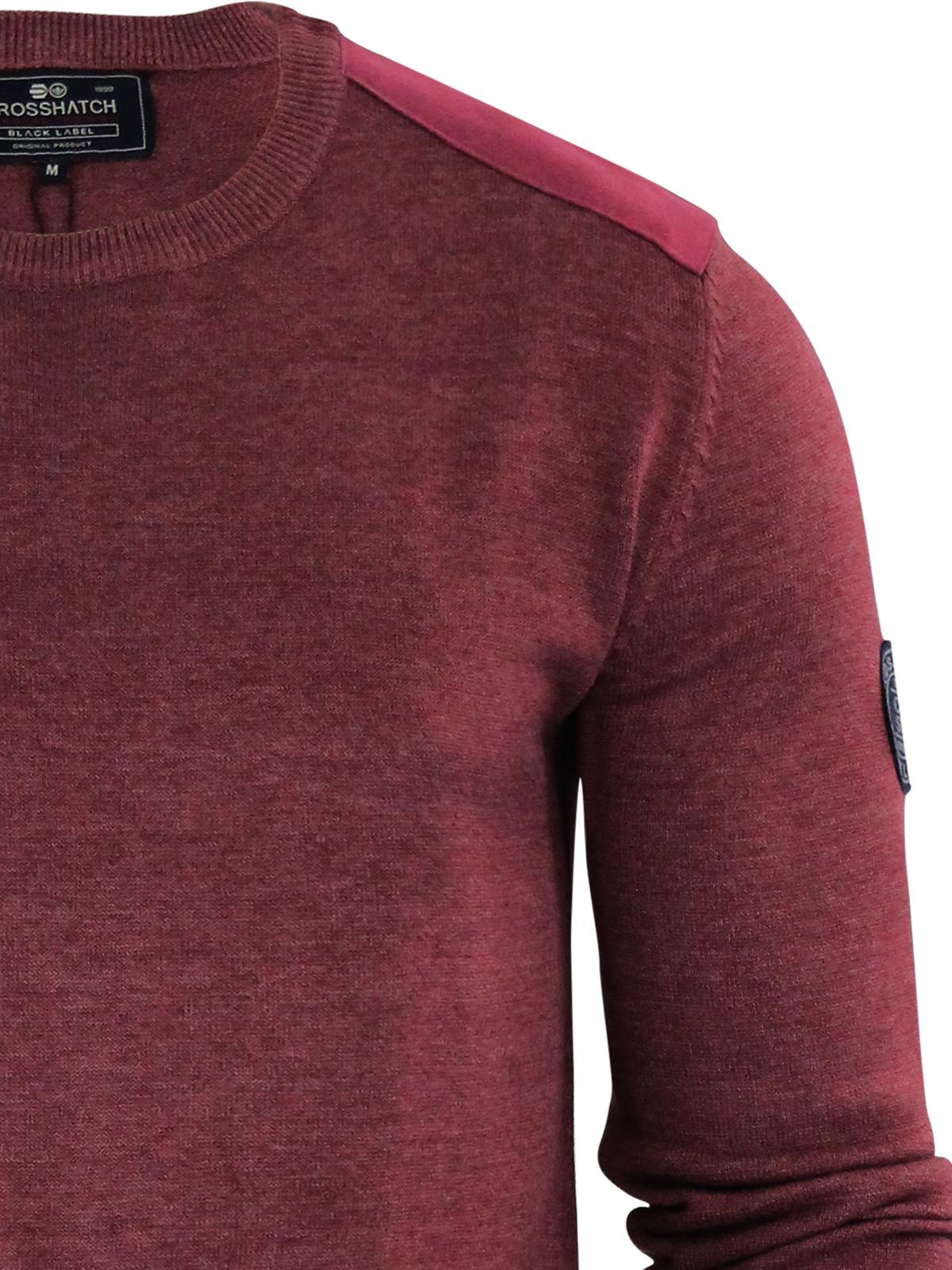 herren-pullover-crosshatch-barrowell-rundhals-strickpullover Indexbild 13
