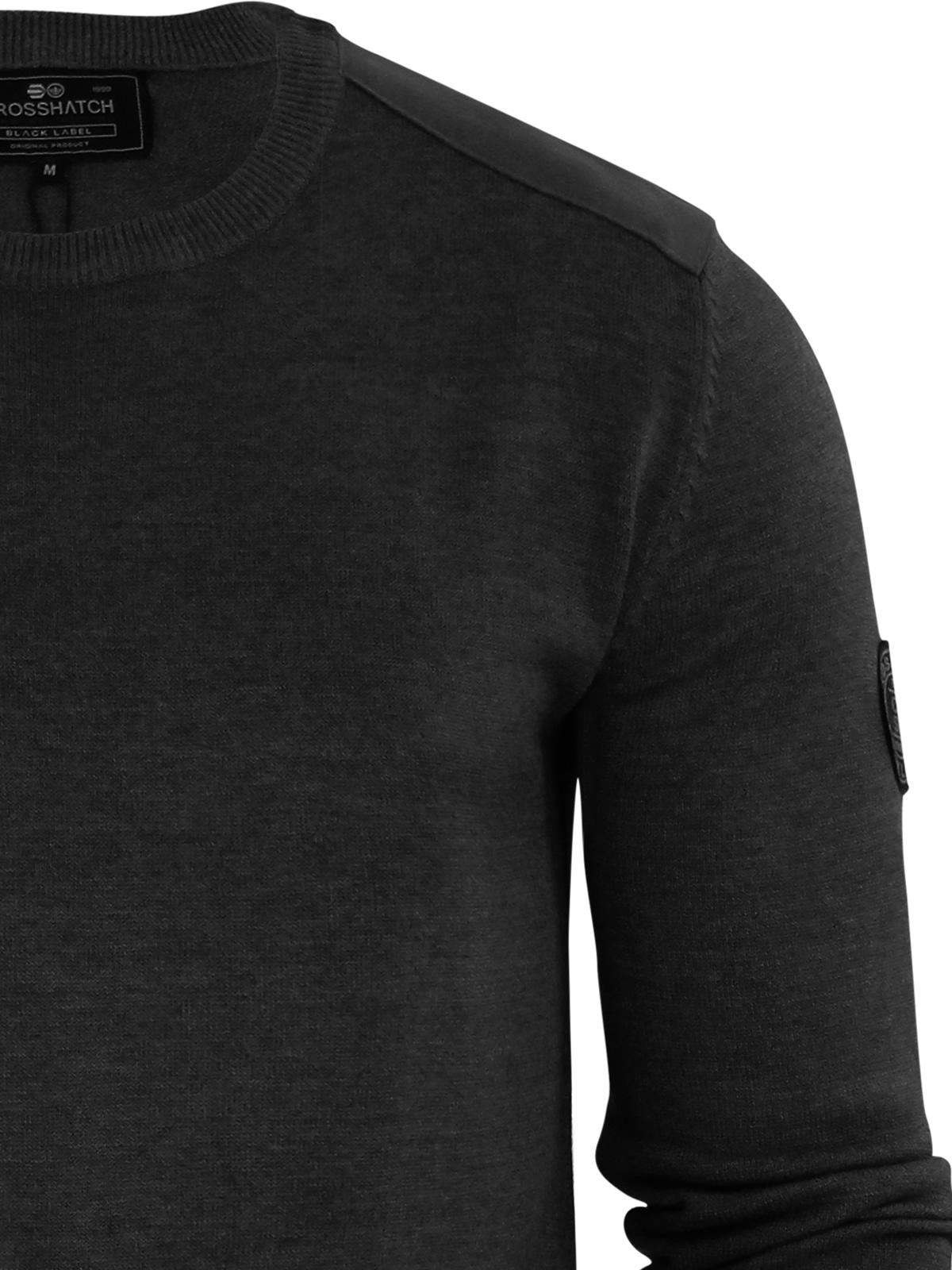 herren-pullover-crosshatch-barrowell-rundhals-strickpullover Indexbild 16