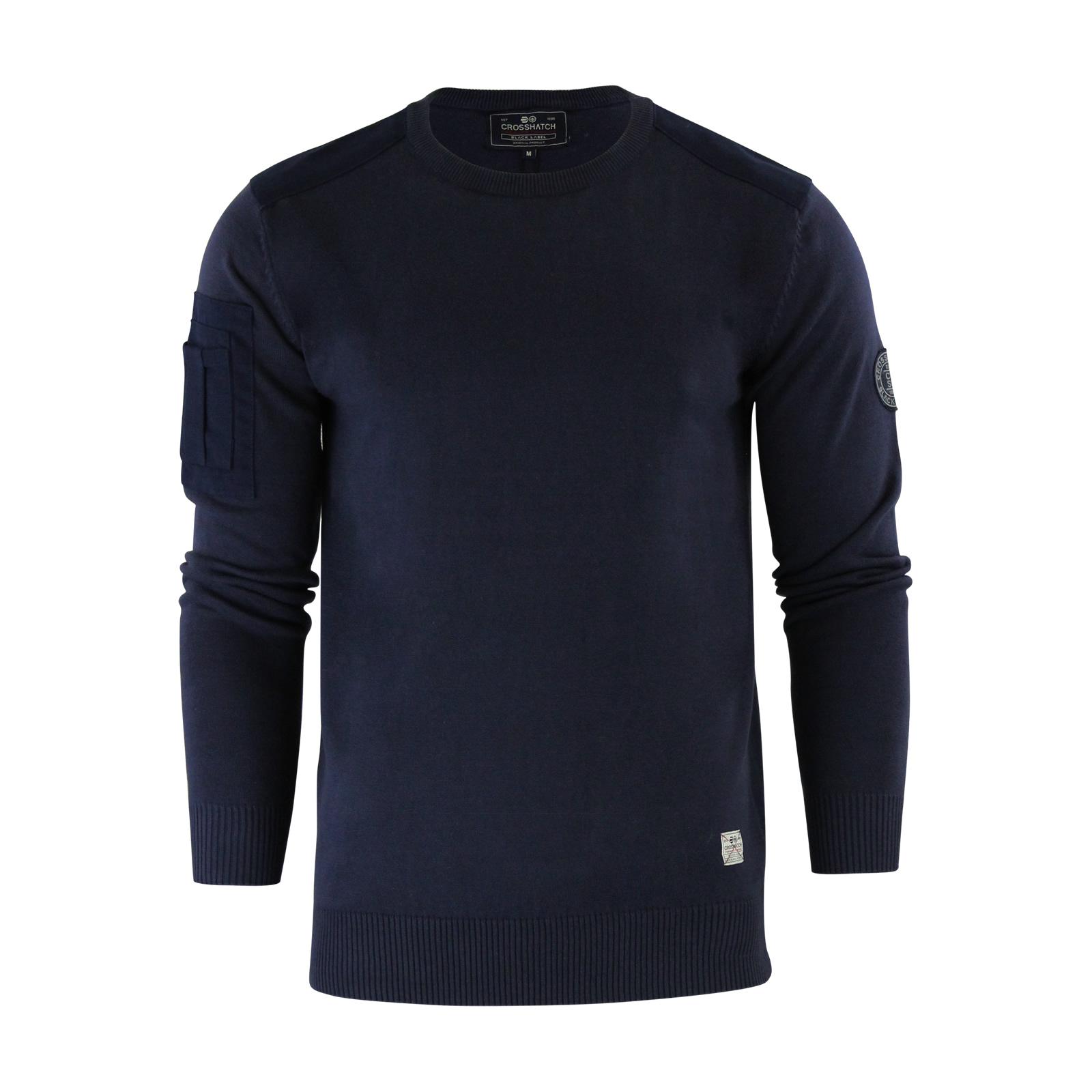 herren-pullover-crosshatch-barrowell-rundhals-strickpullover Indexbild 17