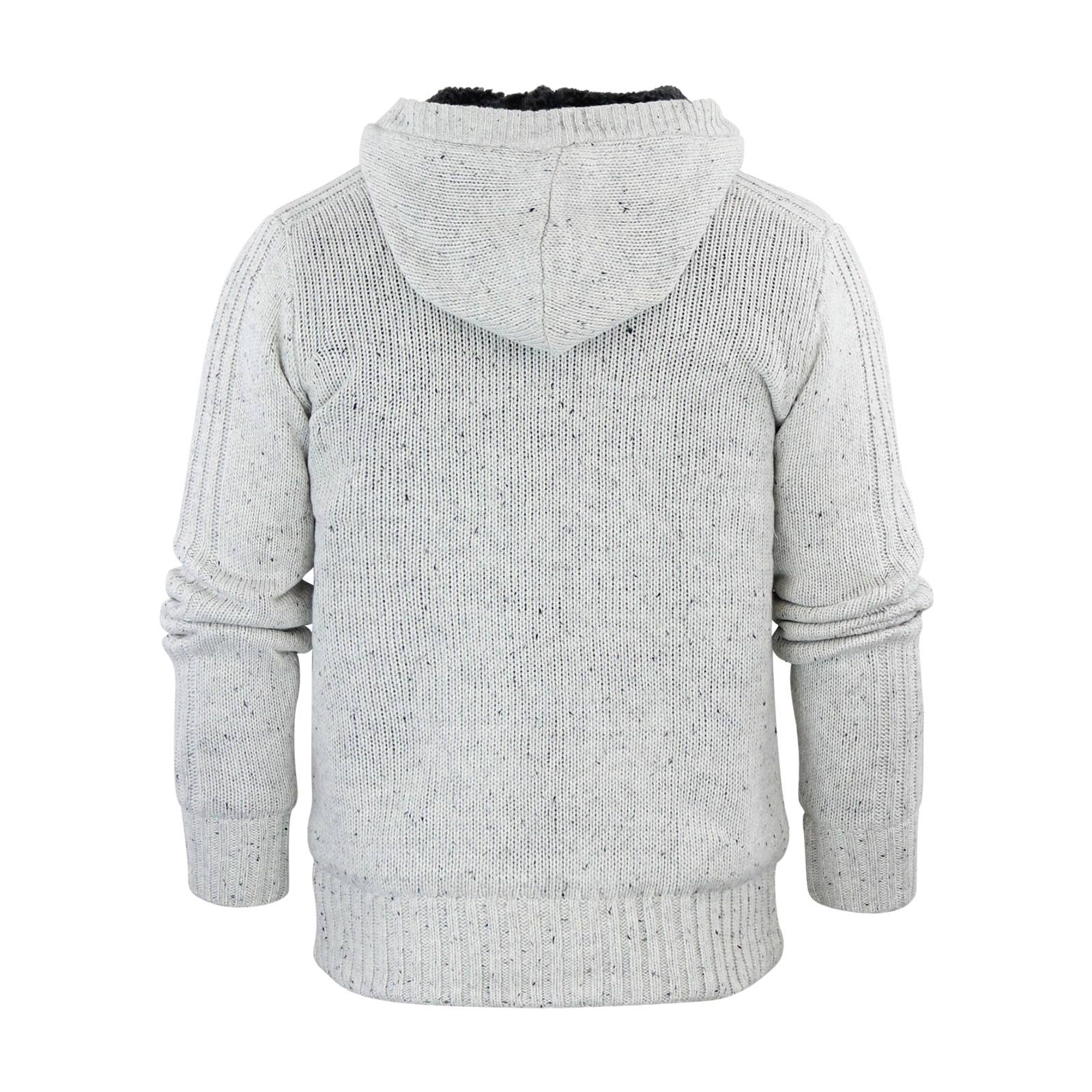 Mens Cardigan Jumper Dissident Falkirk Hooded Sherpa Fleece Lined ...