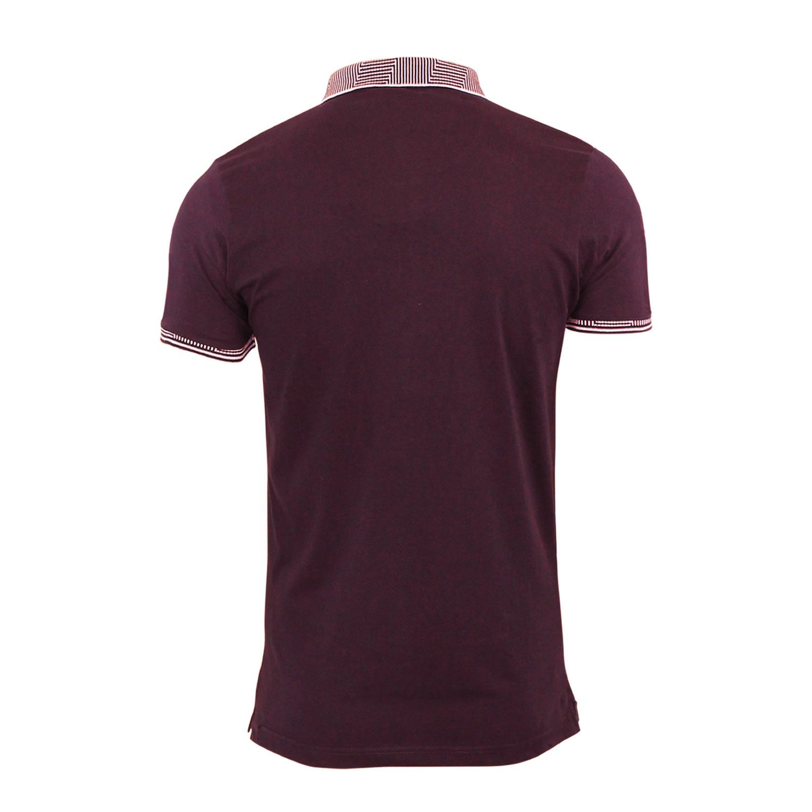 Brave Soul da Uomo CHIMERA Oxford Manica Corta Cotone Polo Shirt Tee Top