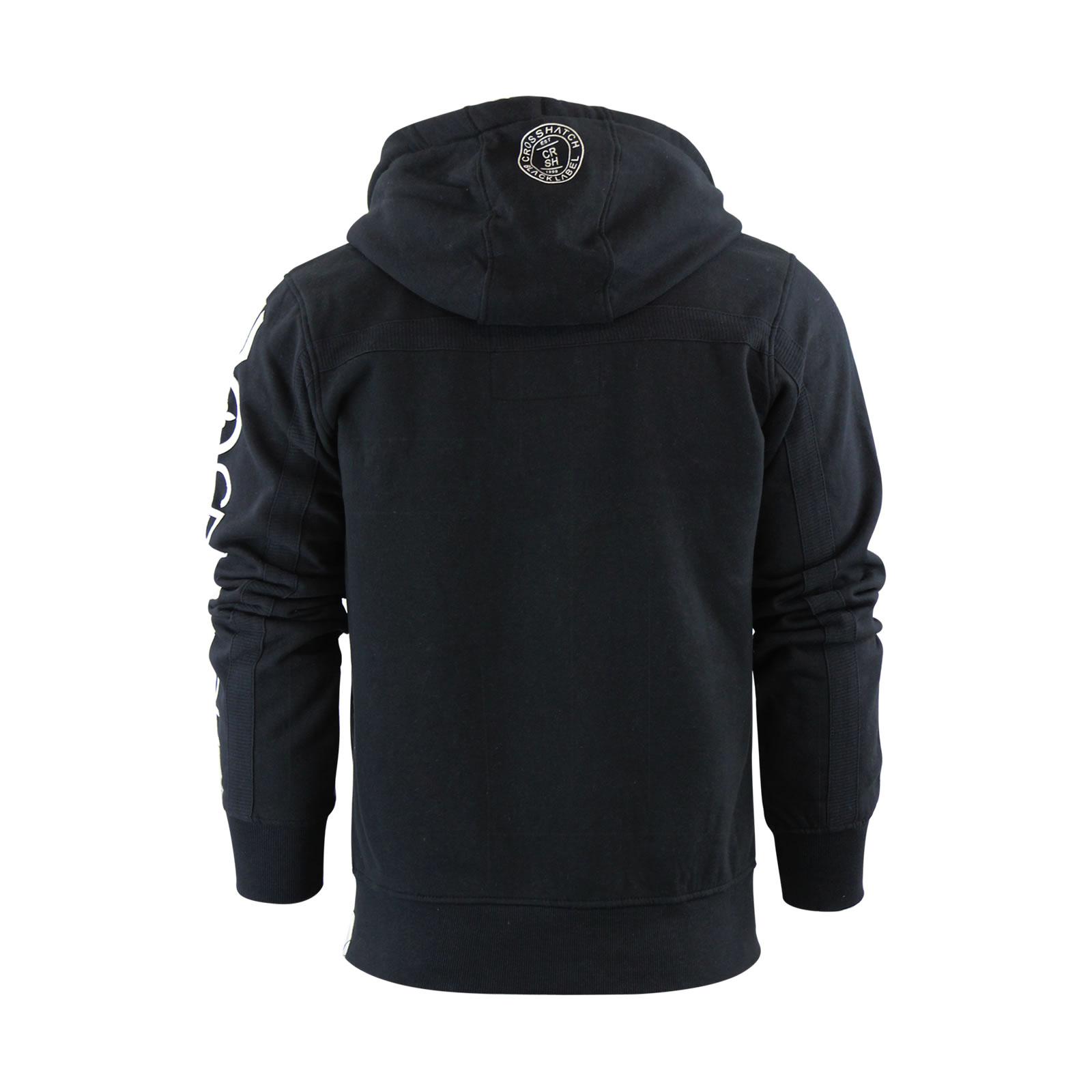 Mens-Hoodie-Crosshatch-Ribbler-Zip-Up-Hooded-Jacket-Pullover-Jumper-Sweatershirt thumbnail 7