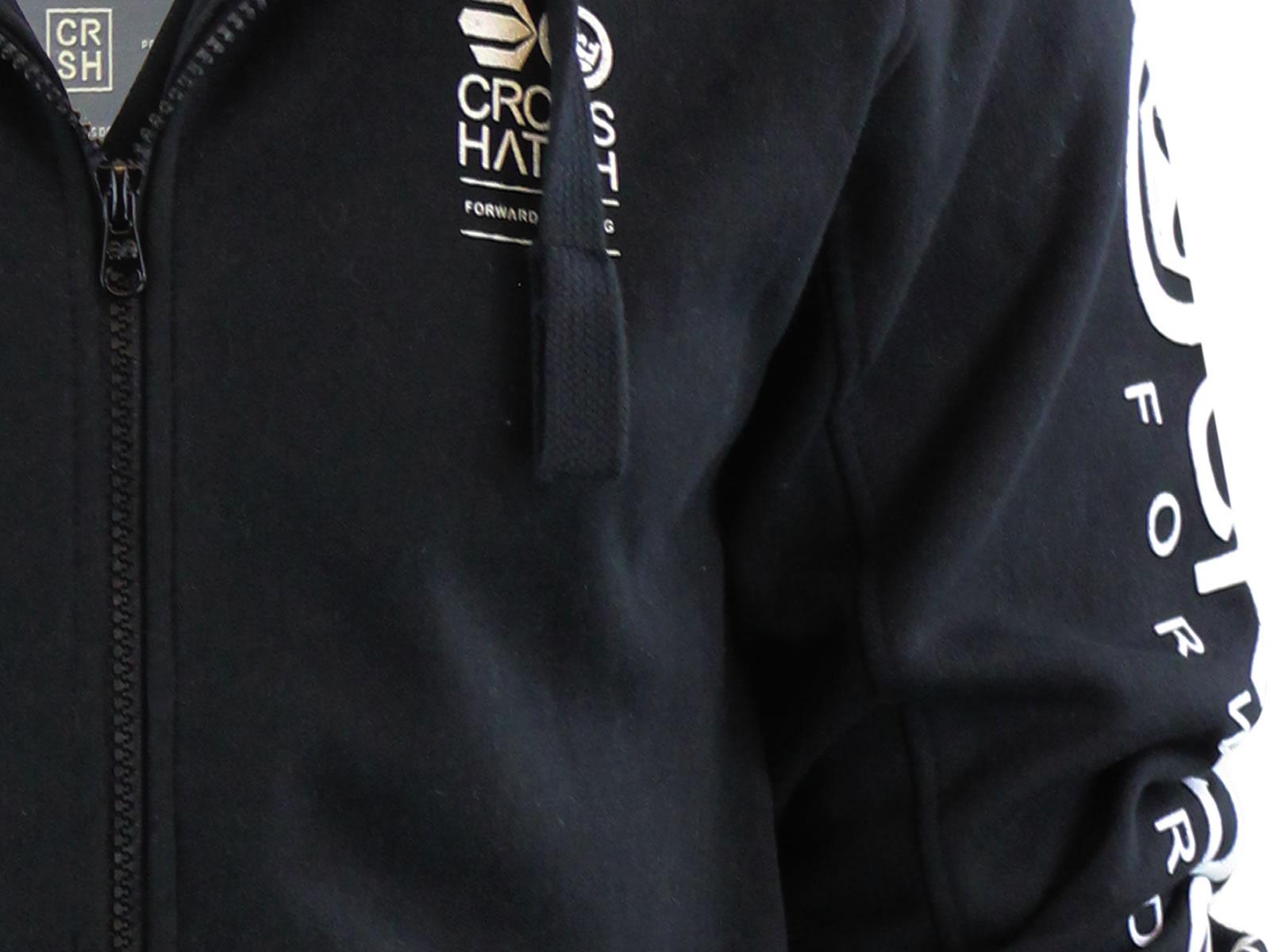 Mens-Hoodie-Crosshatch-Ribbler-Zip-Up-Hooded-Jacket-Pullover-Jumper-Sweatershirt thumbnail 8