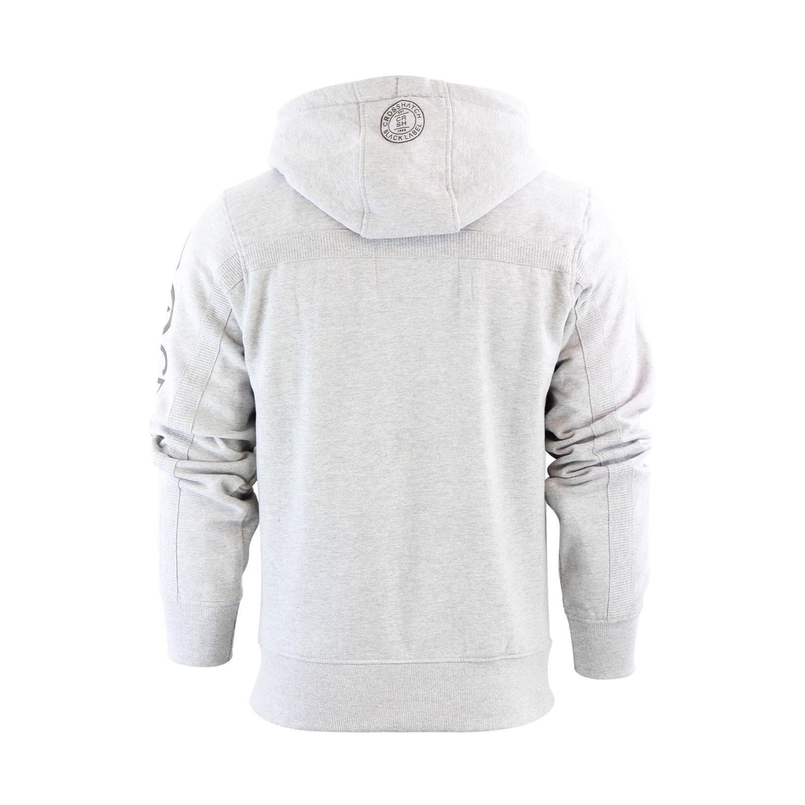 Mens-Hoodie-Crosshatch-Ribbler-Zip-Up-Hooded-Jacket-Pullover-Jumper-Sweatershirt thumbnail 10