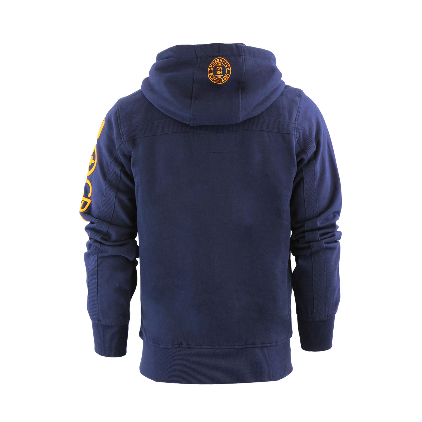 Mens-Hoodie-Crosshatch-Ribbler-Zip-Up-Hooded-Jacket-Pullover-Jumper-Sweatershirt thumbnail 13