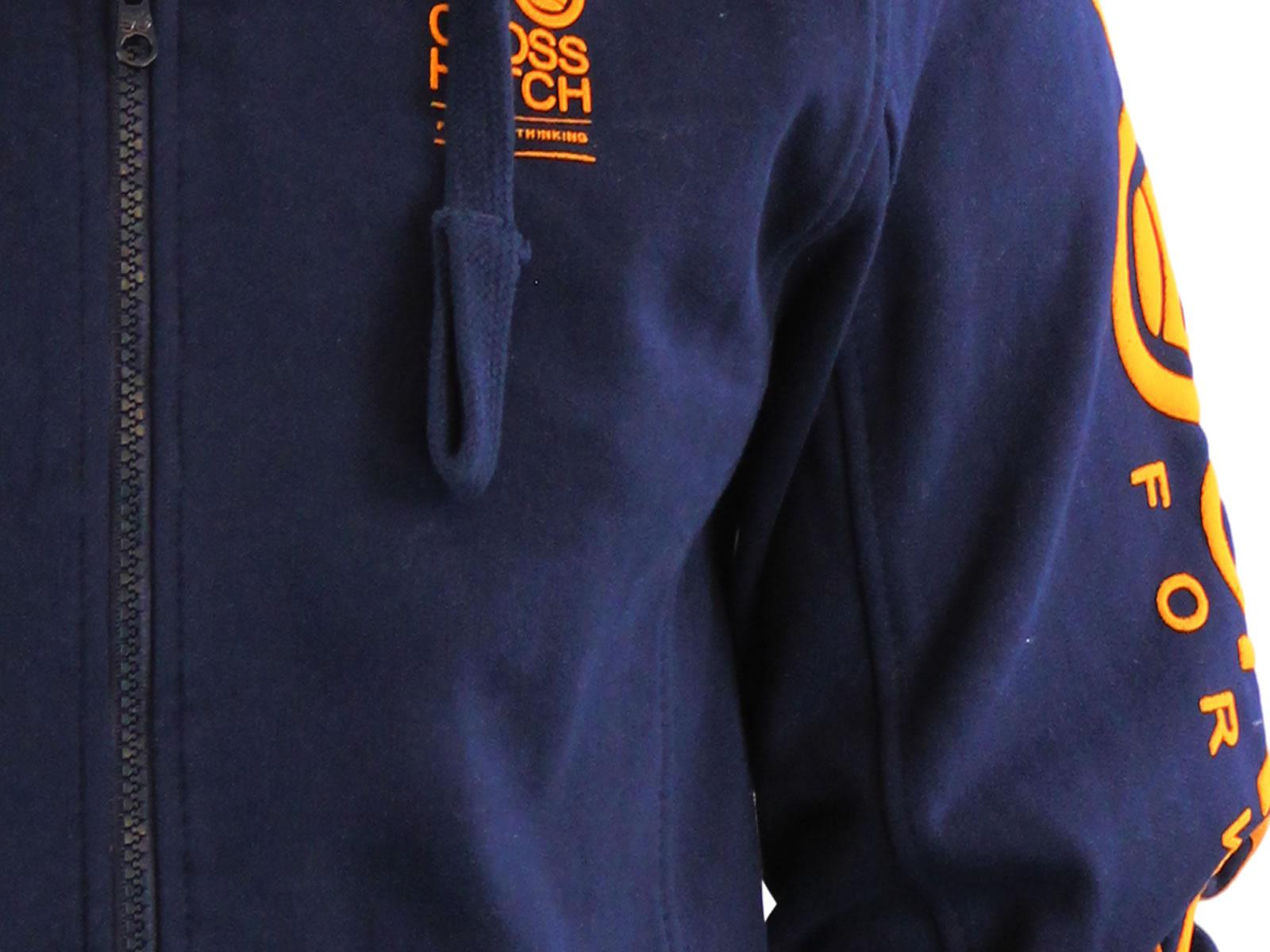 Mens-Hoodie-Crosshatch-Ribbler-Zip-Up-Hooded-Jacket-Pullover-Jumper-Sweatershirt thumbnail 14