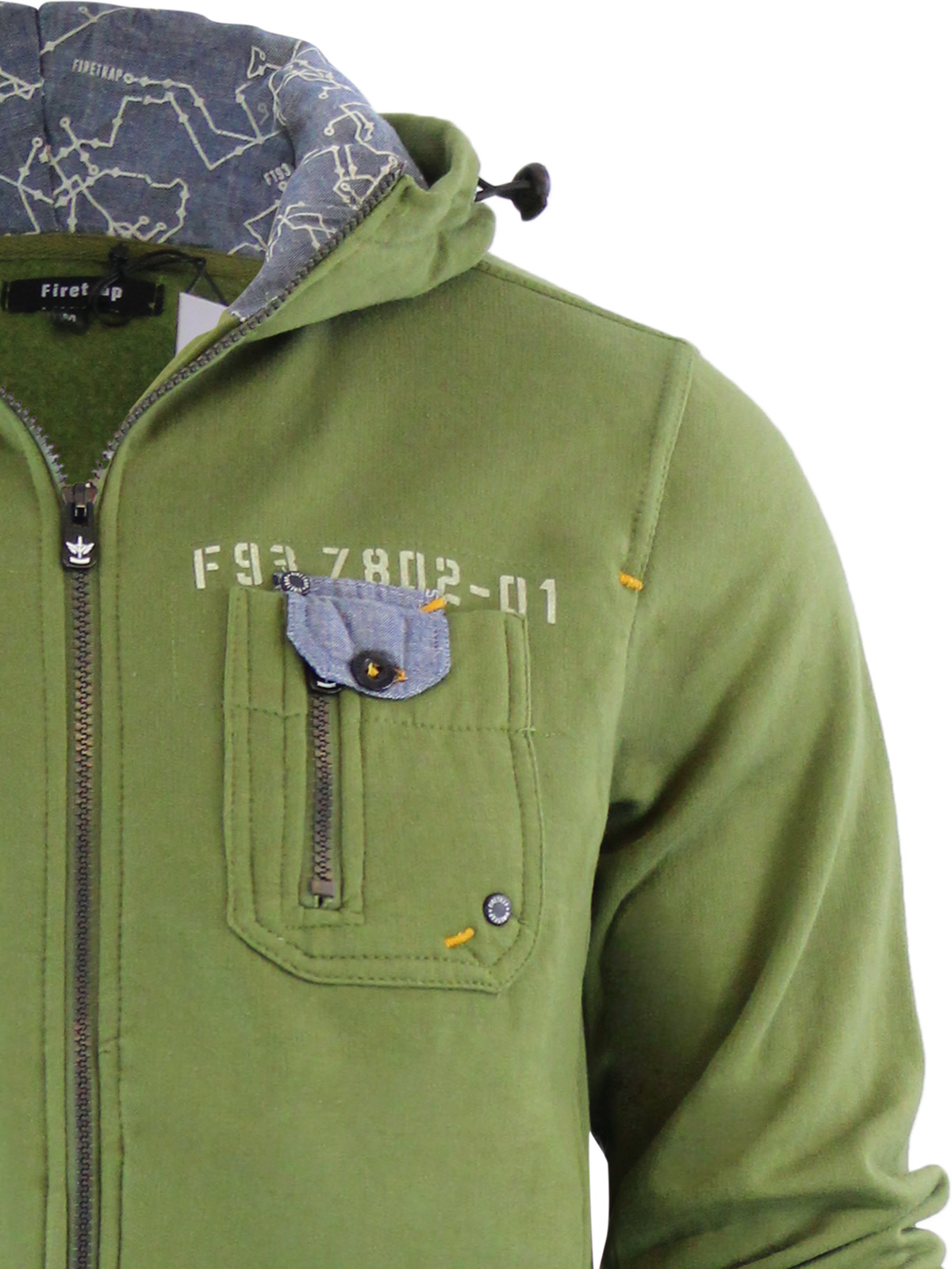 Mens Hoodie Firetrap Appach Zip Up Hooded Sweater