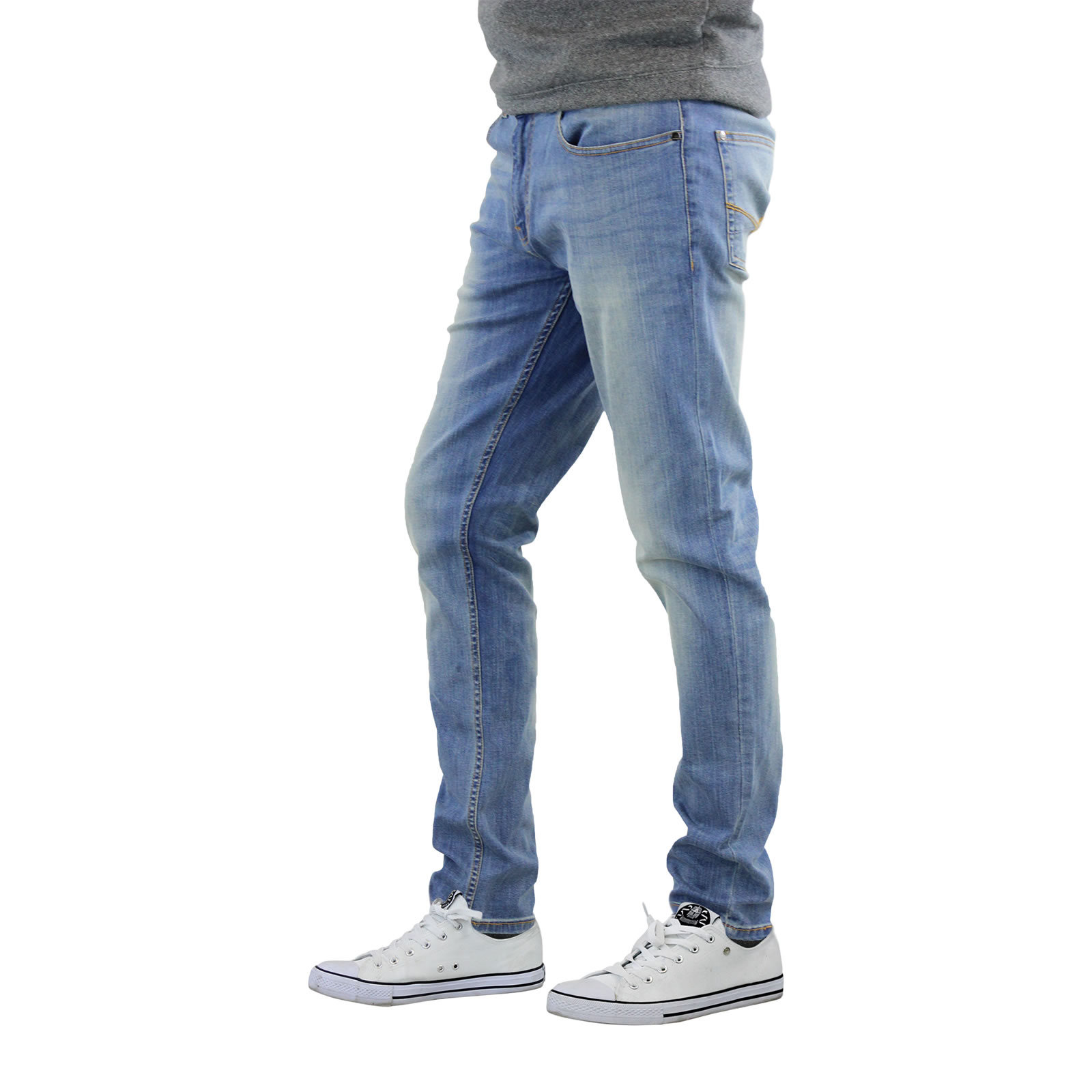 Mens Stretch Jeans. Looking to switch up your jeans style? Trade in the relaxed, loose fit for a more tailored look. Check out these classic denim with a new twist in men's stretch jeans. Get to know these comfy jeans from your favorite brands. Casual Cool Take your weekend look to the next level by upping the comfy factor.