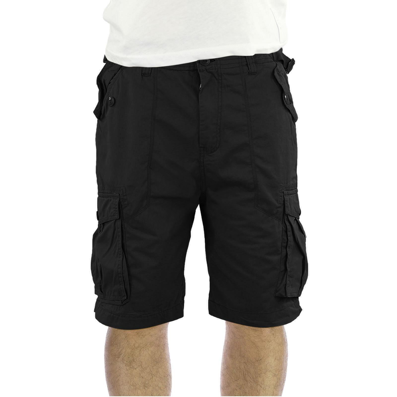 Mens Cargo Shorts Firetrap Nolin Military Cotton Knee Length ...