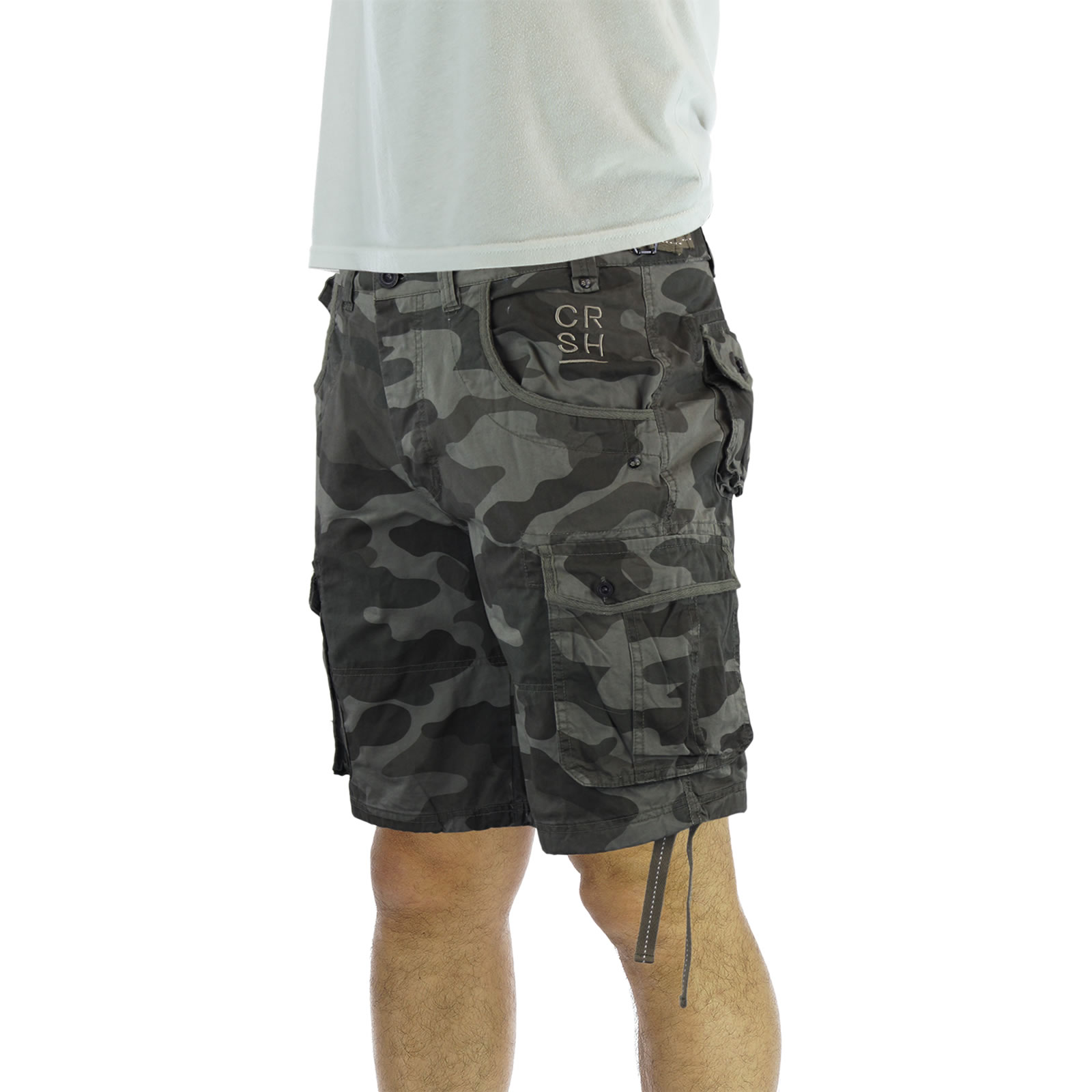mens cargo shorts crosshatch crossfin camo army camouflage