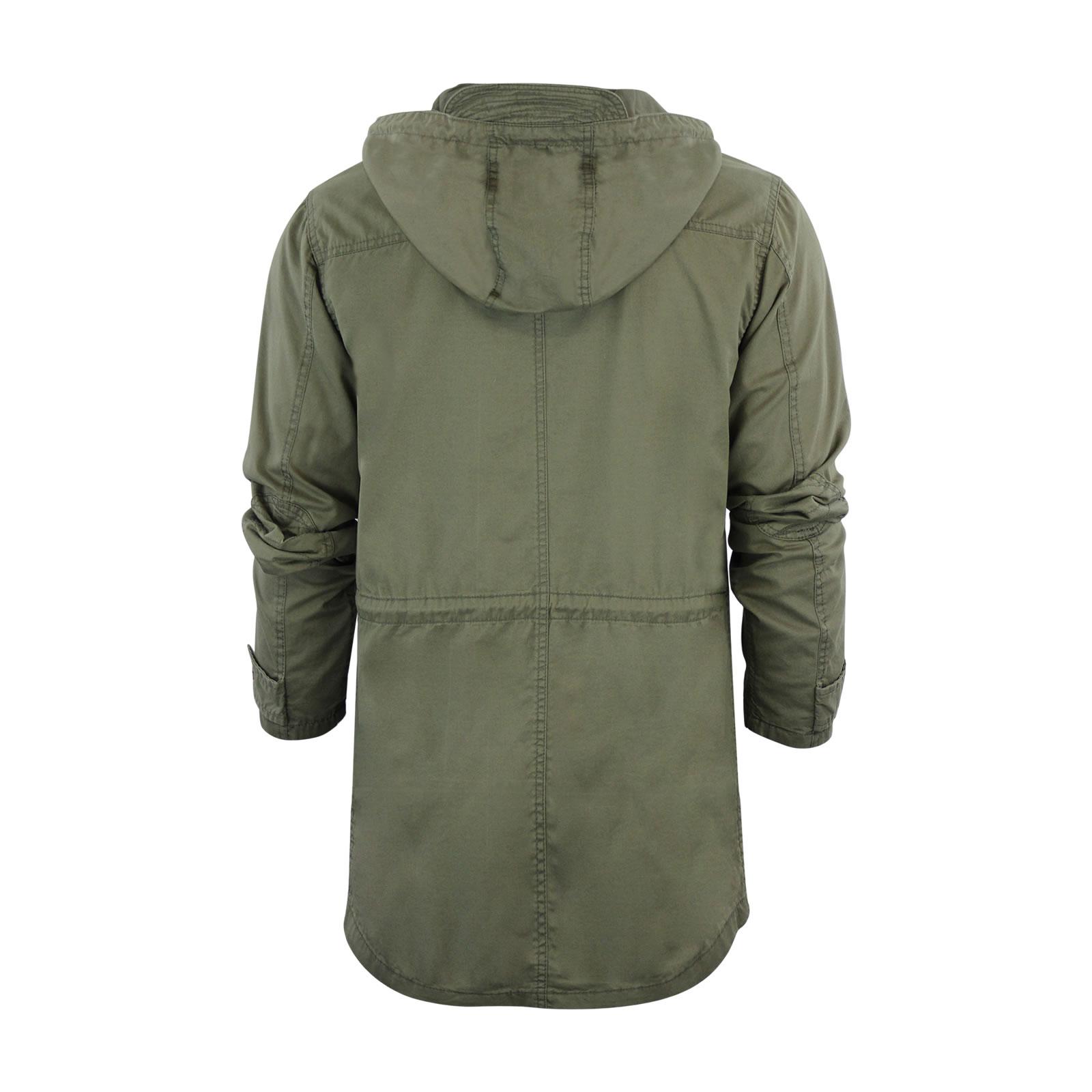 Mens Hooded Parka MOD Brave Soul Puzzlebadge Military Jacket Coat ...