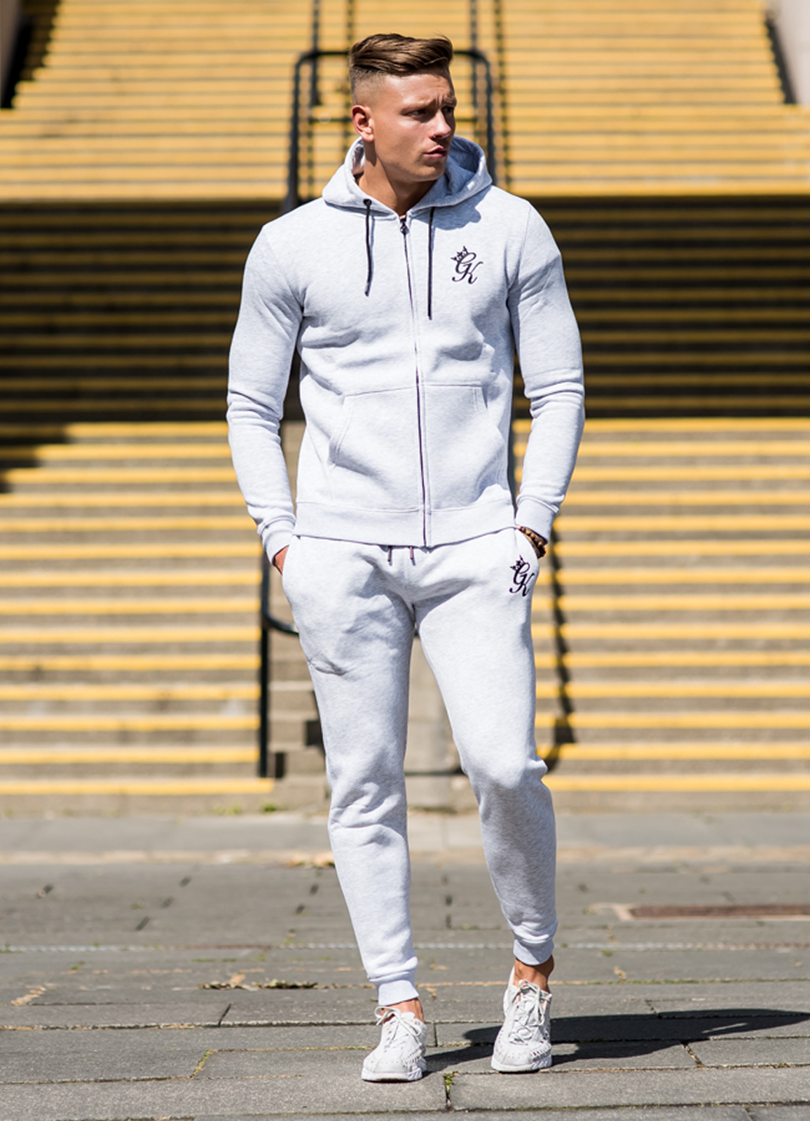 Mens Tracksuit Gym King Core Track Top Hoody   Jogger Bottoms  0723110694c8