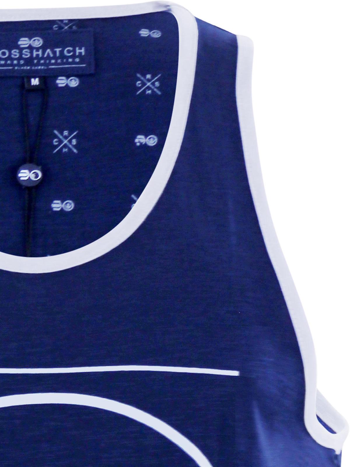 miniature 7 - Homme-debardeur-t-shirt-crosshatch-alfa-summer-muscle-back-tank-top