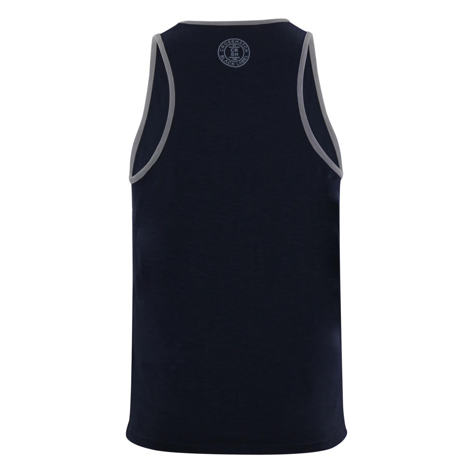 miniature 9 - Homme-debardeur-t-shirt-crosshatch-alfa-summer-muscle-back-tank-top