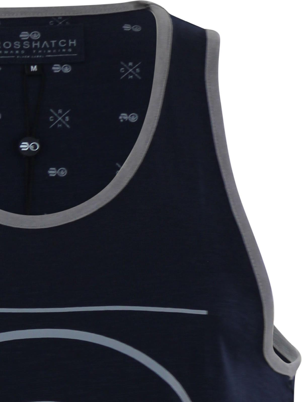 miniature 10 - Homme-debardeur-t-shirt-crosshatch-alfa-summer-muscle-back-tank-top