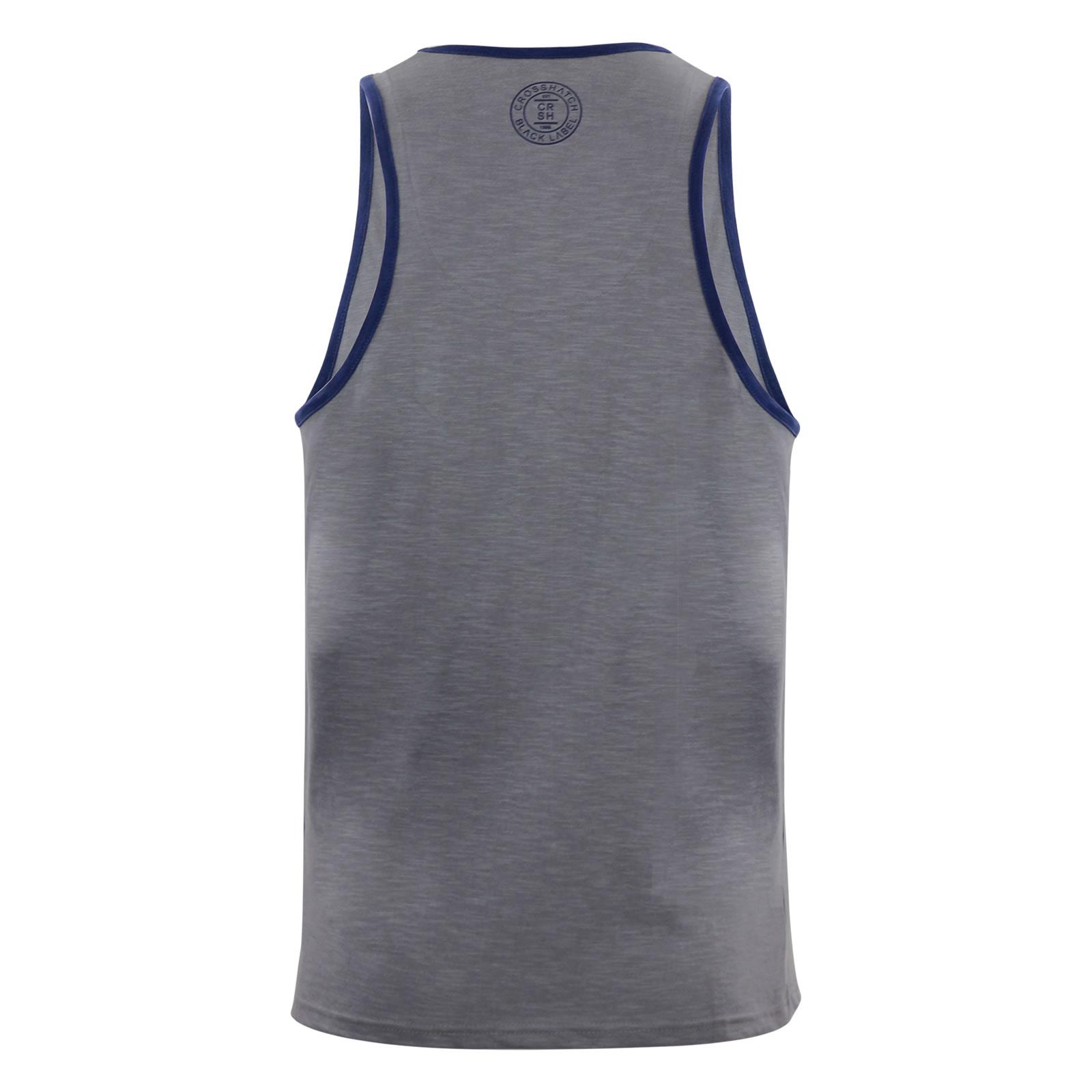 miniature 12 - Homme-debardeur-t-shirt-crosshatch-alfa-summer-muscle-back-tank-top