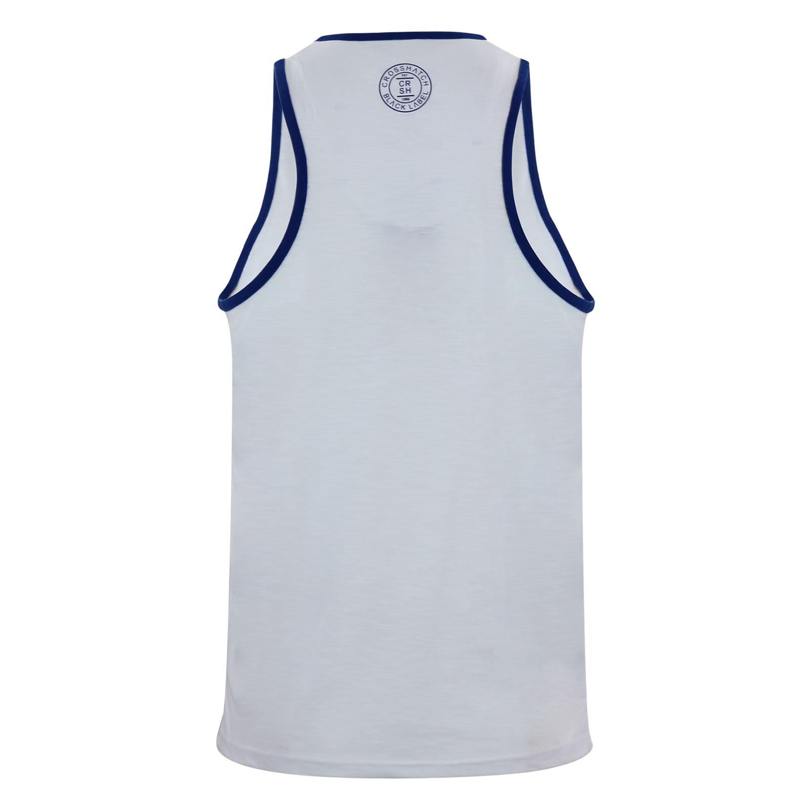 miniature 15 - Homme-debardeur-t-shirt-crosshatch-alfa-summer-muscle-back-tank-top