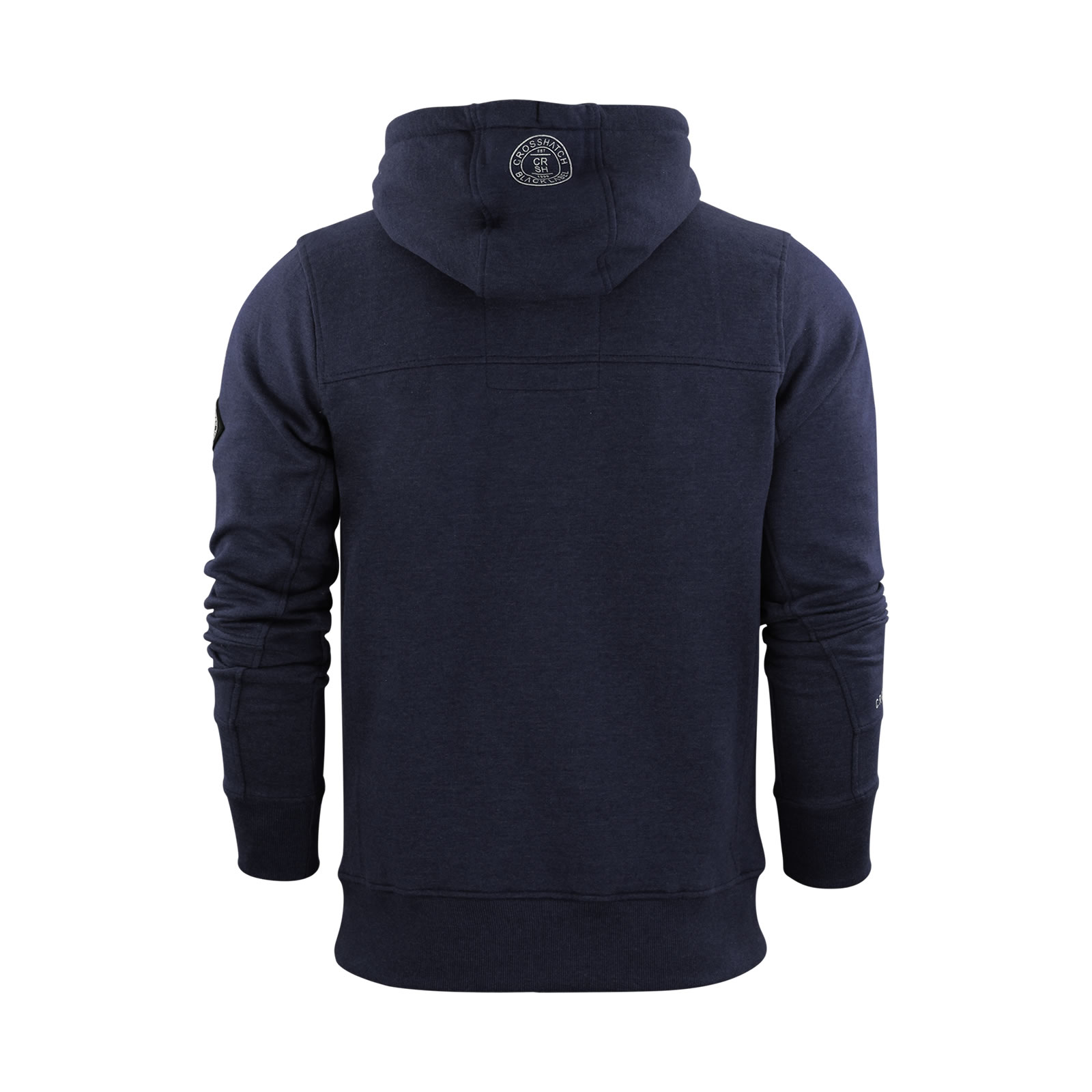 Mens Hoodie Crosshatch Sloten Printed Hooded Pull Over Sweatshirt