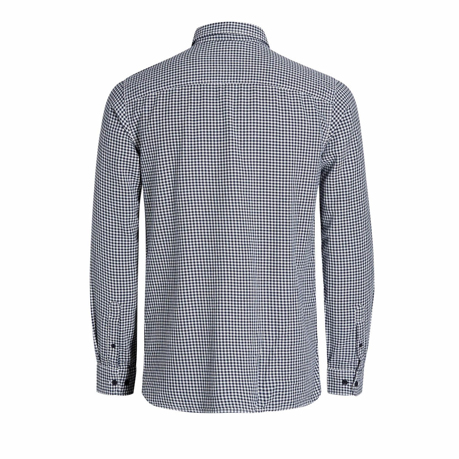 Mens-Check-Shirt-JACK-amp-JONES-Johan-Long-Sleeve-Collared-Cotton-Casual-Shirt thumbnail 6