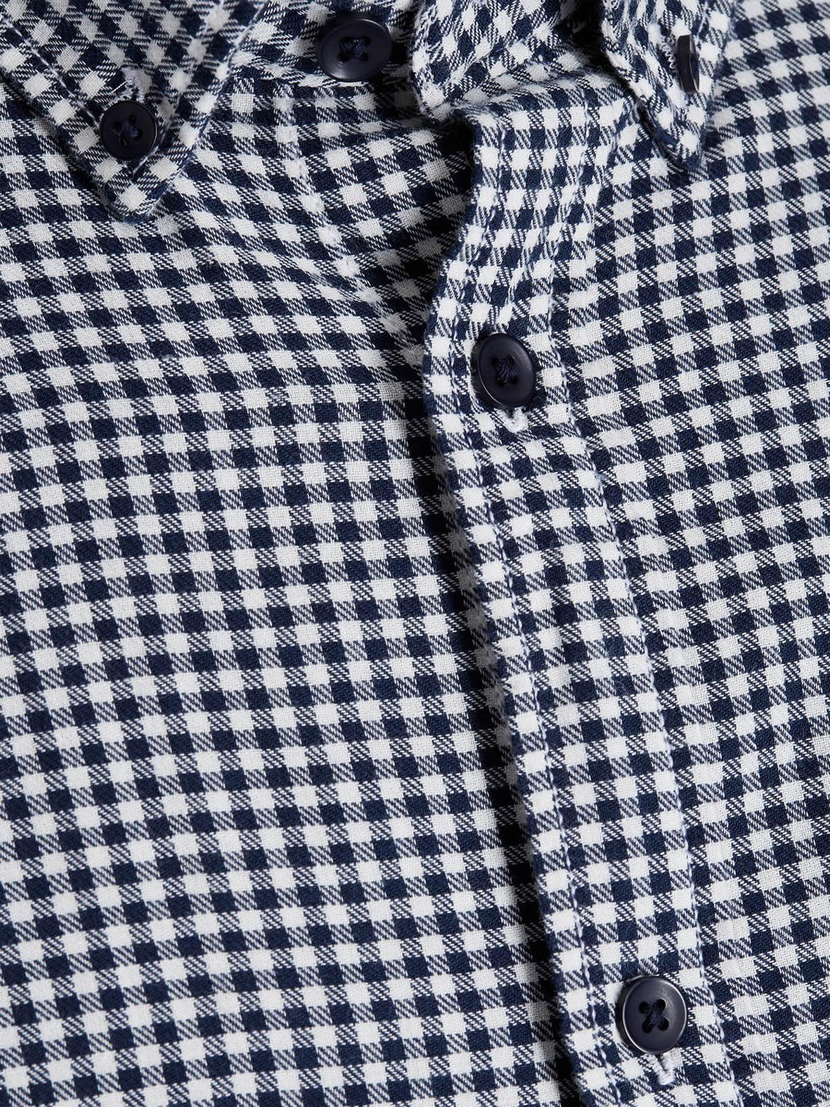 Mens-Check-Shirt-JACK-amp-JONES-Johan-Long-Sleeve-Collared-Cotton-Casual-Shirt thumbnail 7