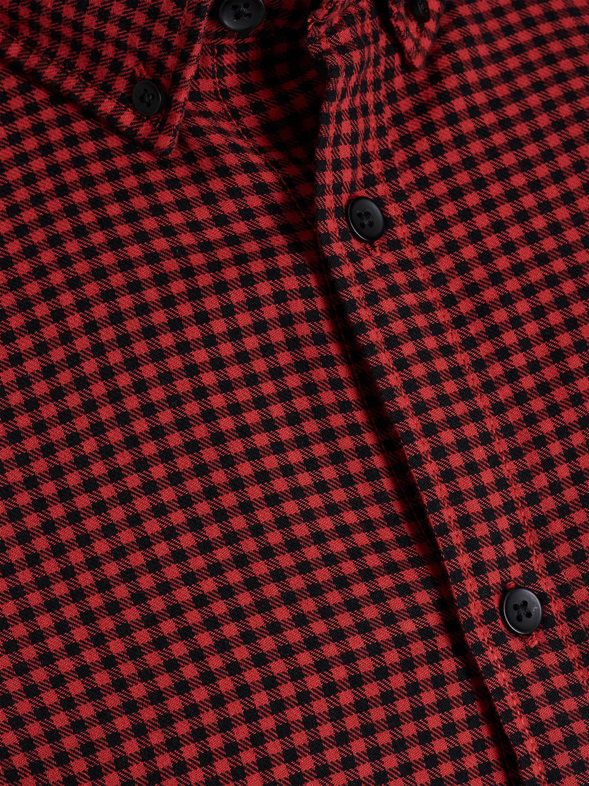 Mens-Check-Shirt-JACK-amp-JONES-Johan-Long-Sleeve-Collared-Cotton-Casual-Shirt thumbnail 4