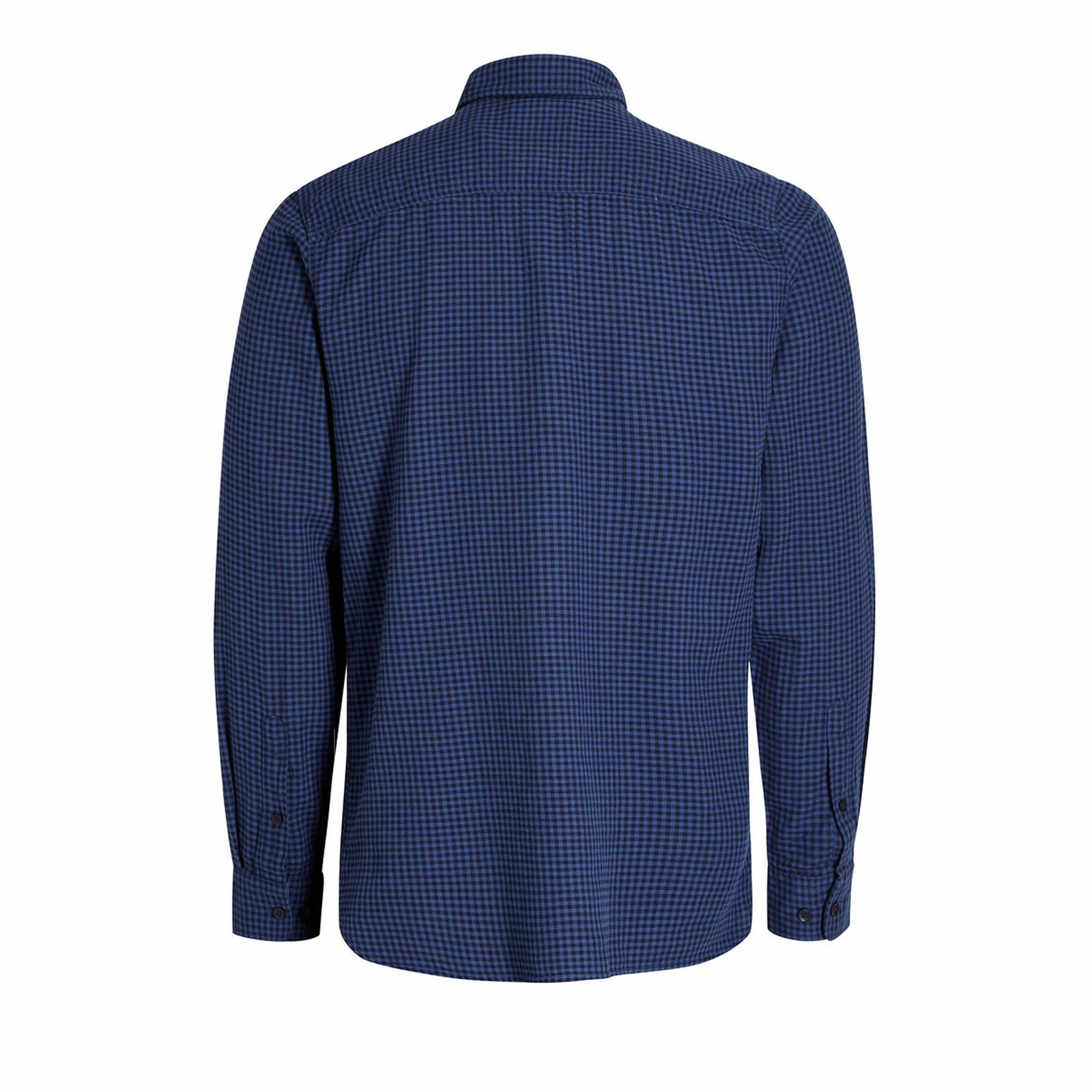 Mens-Check-Shirt-JACK-amp-JONES-Johan-Long-Sleeve-Collared-Cotton-Casual-Shirt thumbnail 9