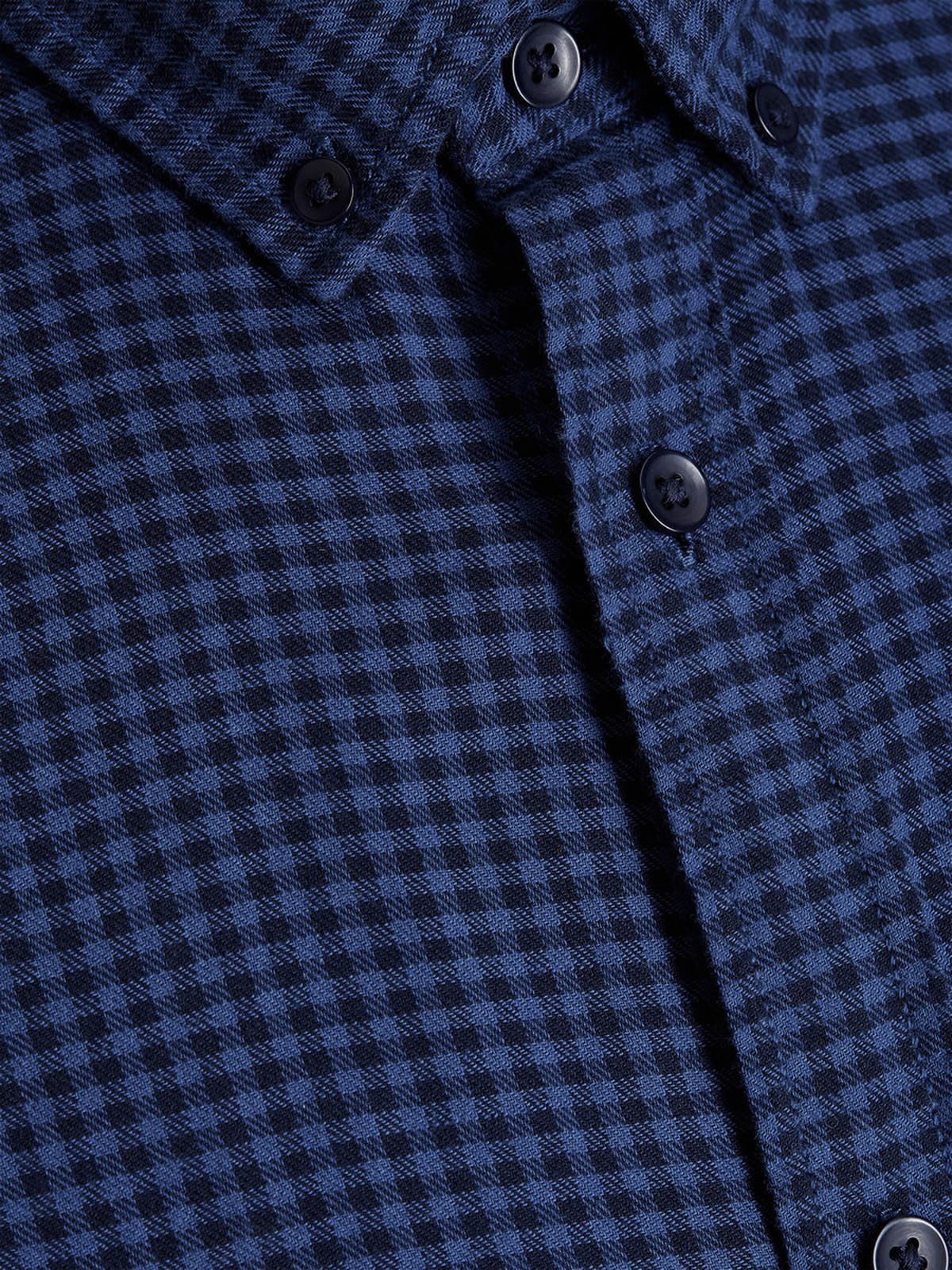 Mens-Check-Shirt-JACK-amp-JONES-Johan-Long-Sleeve-Collared-Cotton-Casual-Shirt thumbnail 10