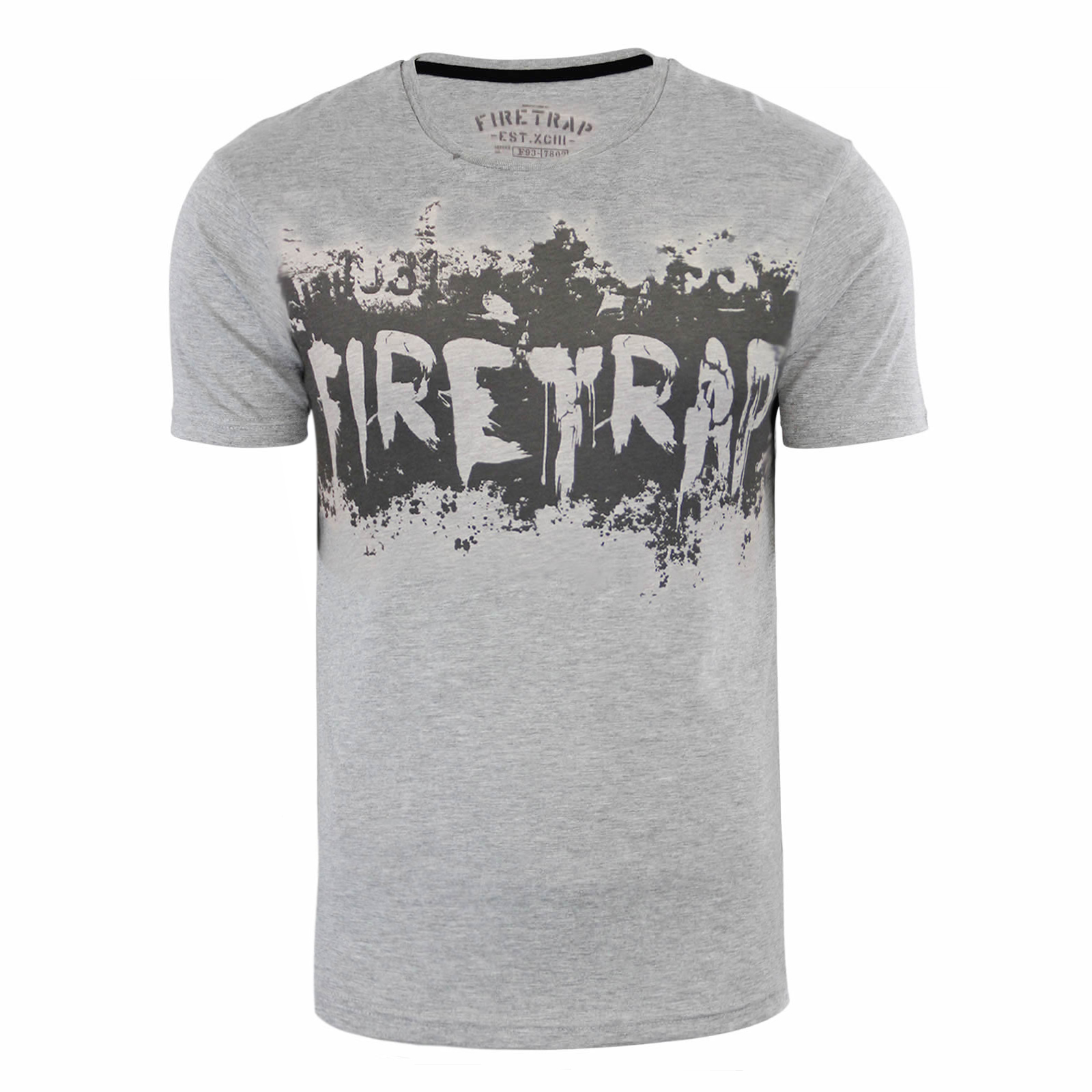 Mens t shirt firetrap various graphic printed cotton crew for Graphic t shirt printing company