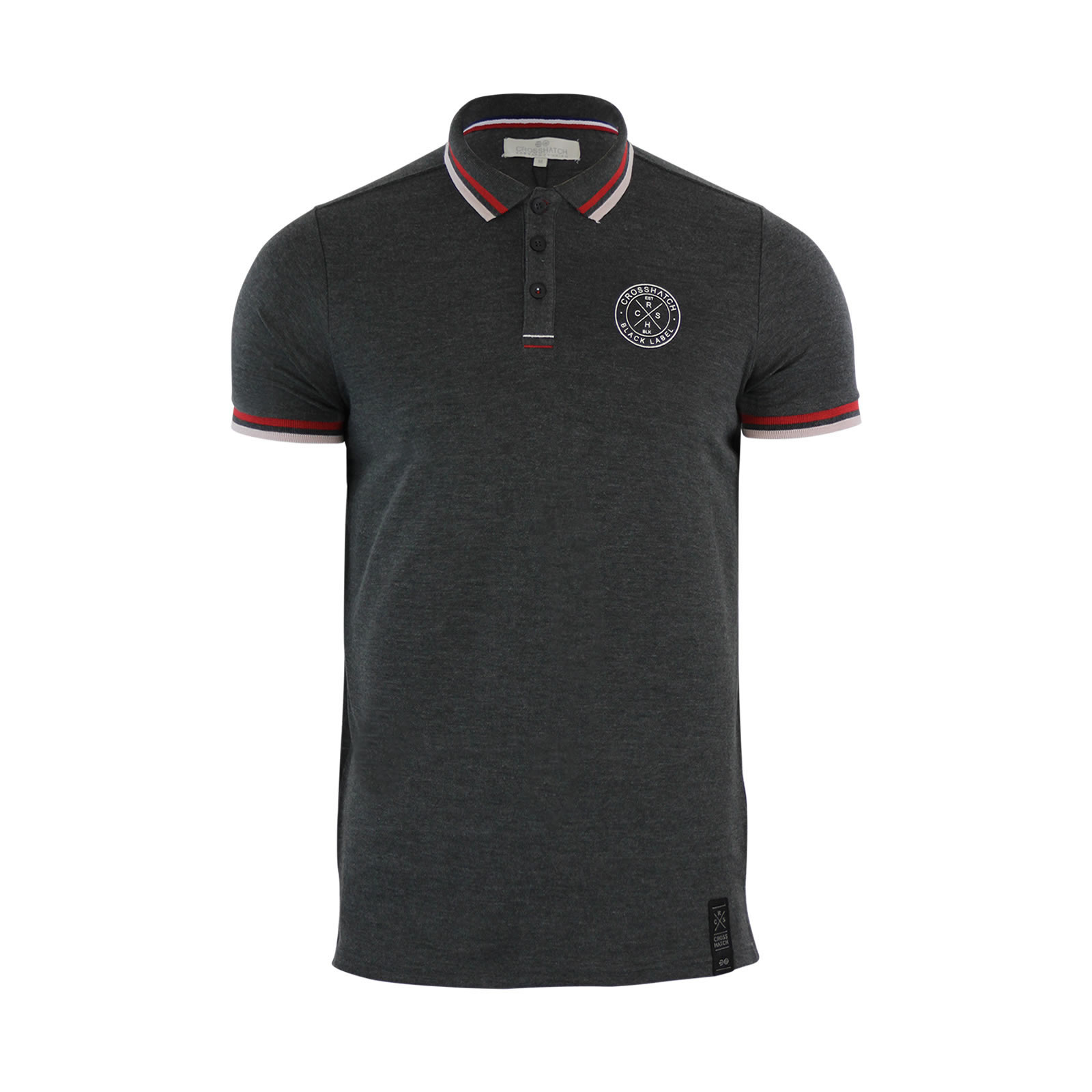 Mens polo t shirt crosshatch pique polo cotton collared for Mens collared t shirts