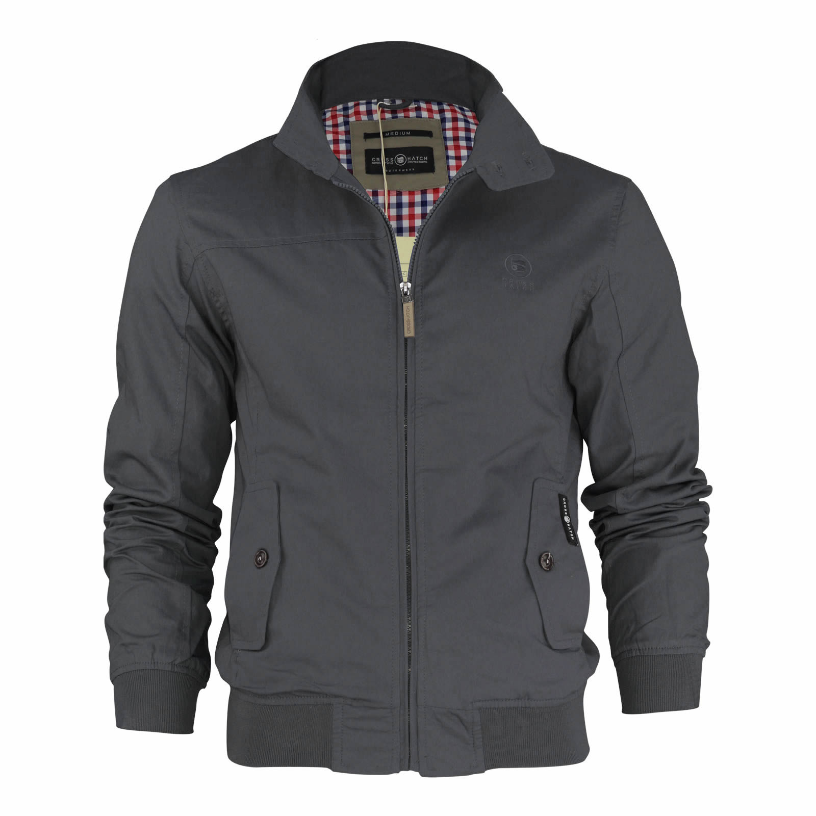Bordeaux bomber jacket with stand up collar with knitted details