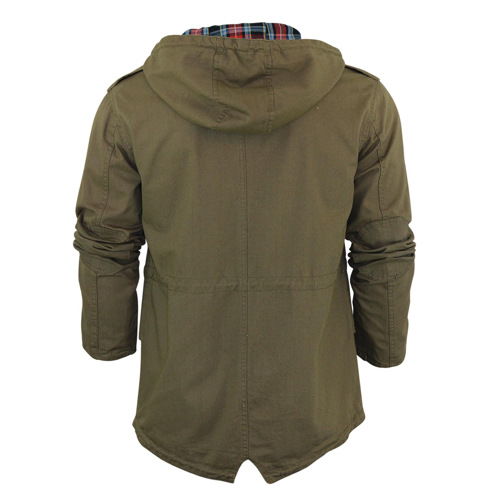 Mens Hooded Parka MOD Brave Soul Puzzle Jacket Coat Fishtail Military