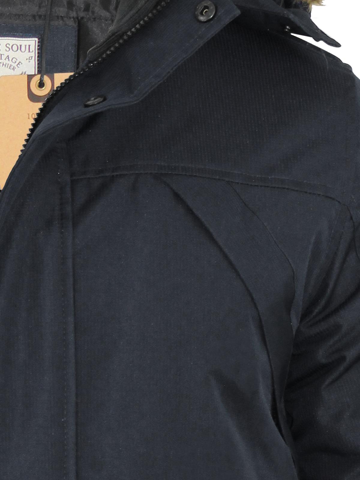 Mens Parka Jacket Brave Soul Aberdeen Ripstop Heavy Padded