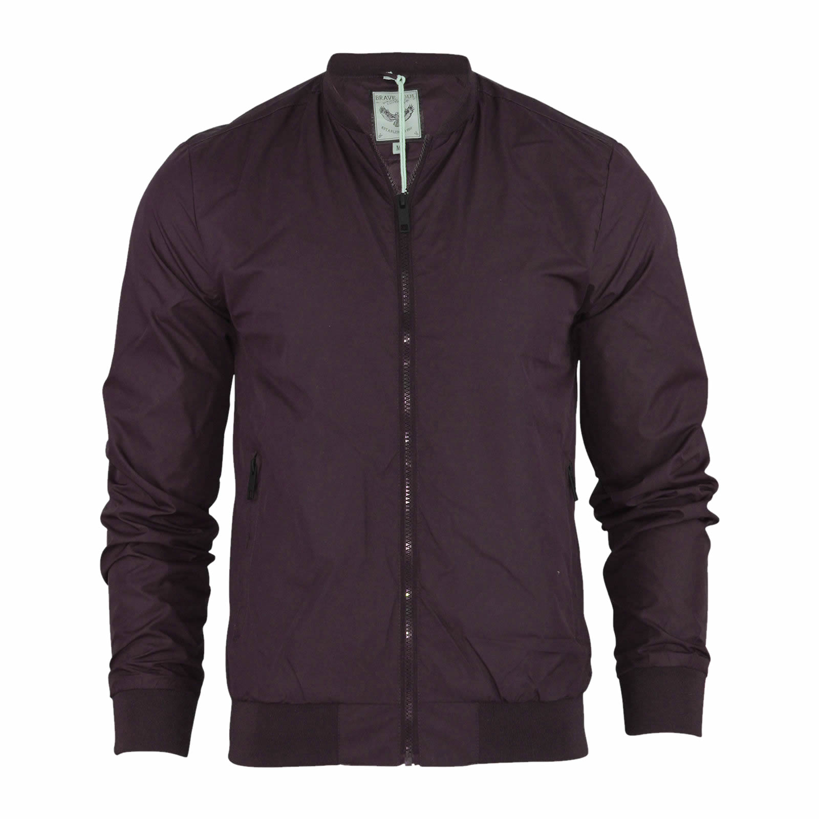 Mens Harrington Jacket Brave Soul MA1 Summer Lightweight Bomber ...