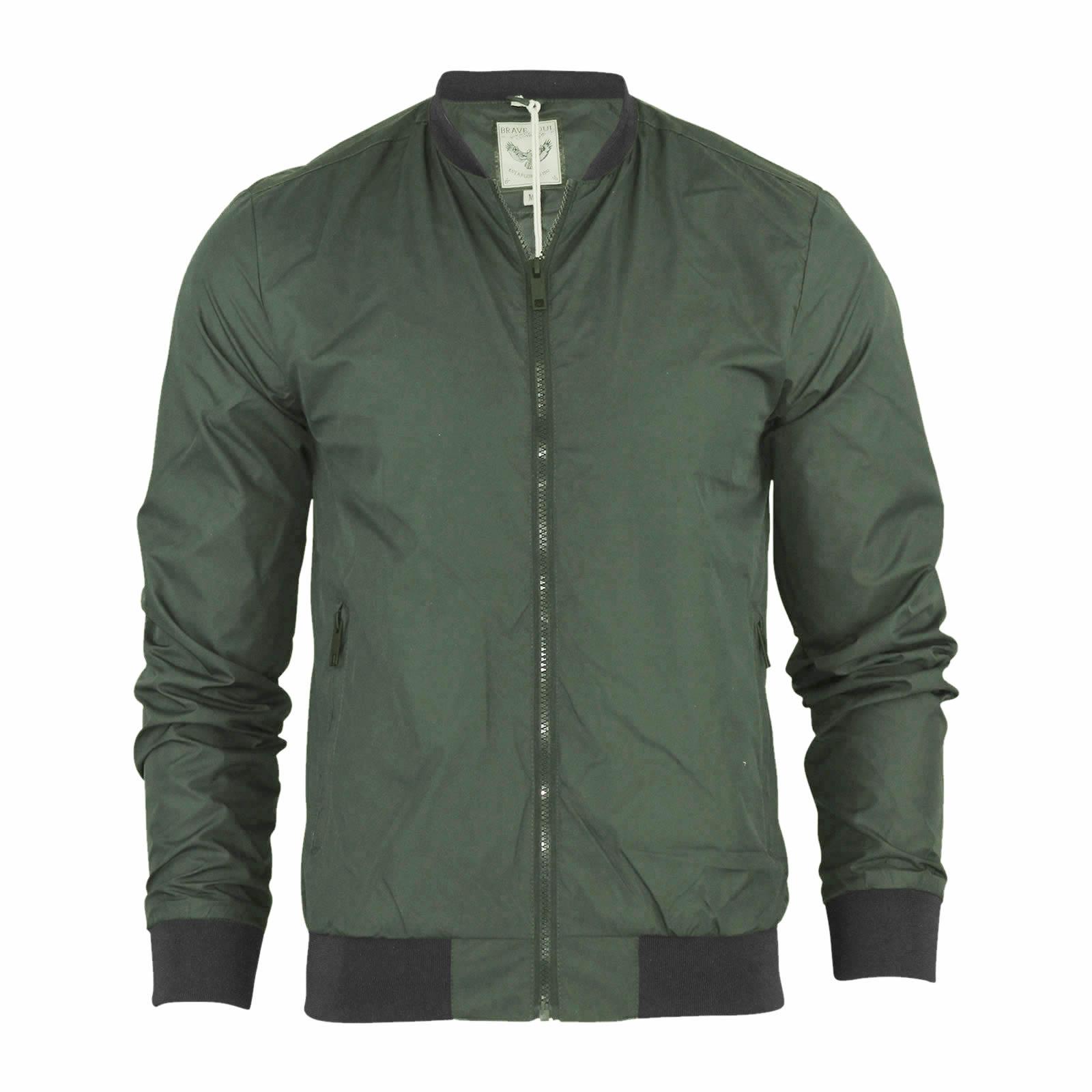 mens harrington jacket brave soul ma1 summer lightweight. Black Bedroom Furniture Sets. Home Design Ideas
