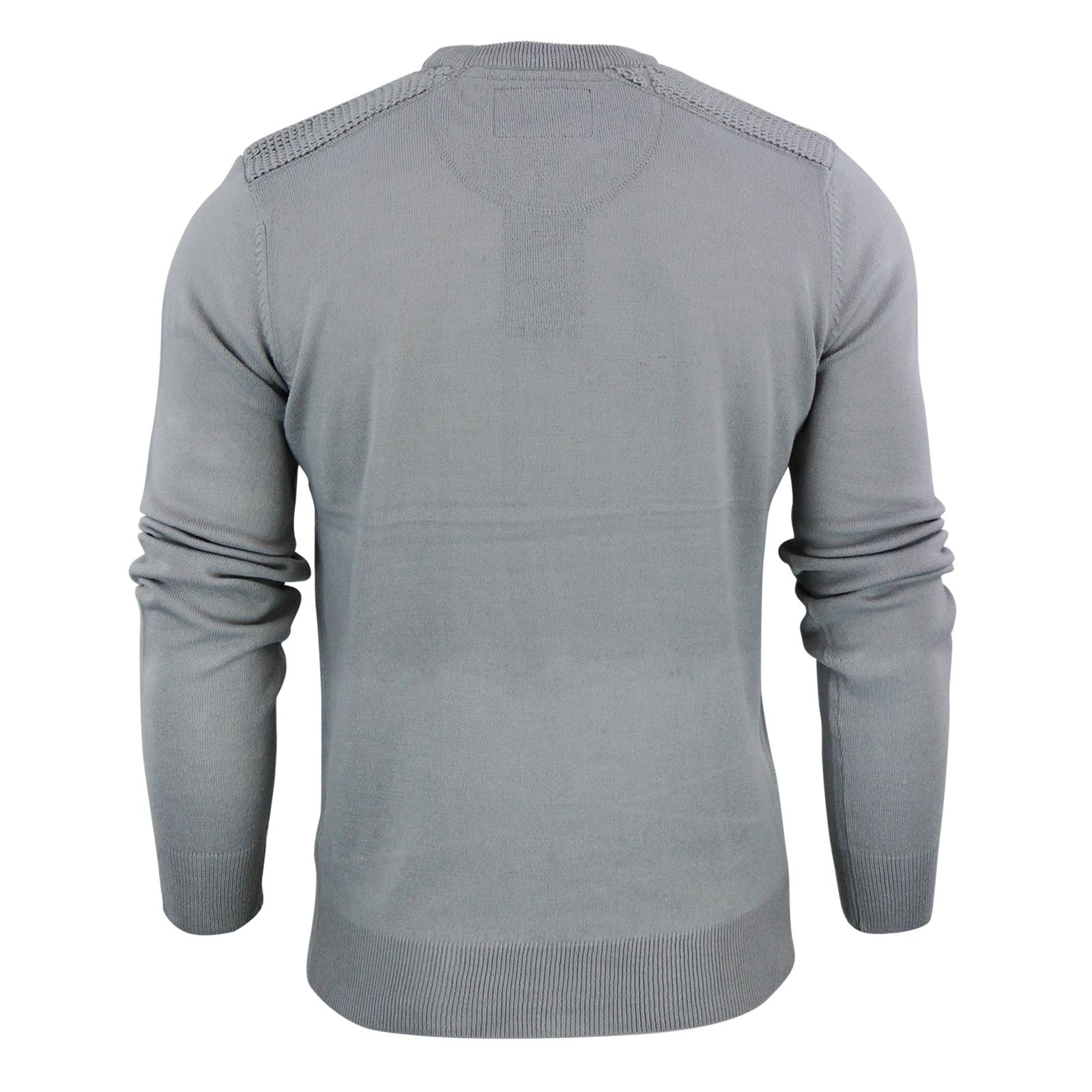 Details about Mens Jumper Brave Soul Luna Crew Neck Sweater With Shoulder Detailing