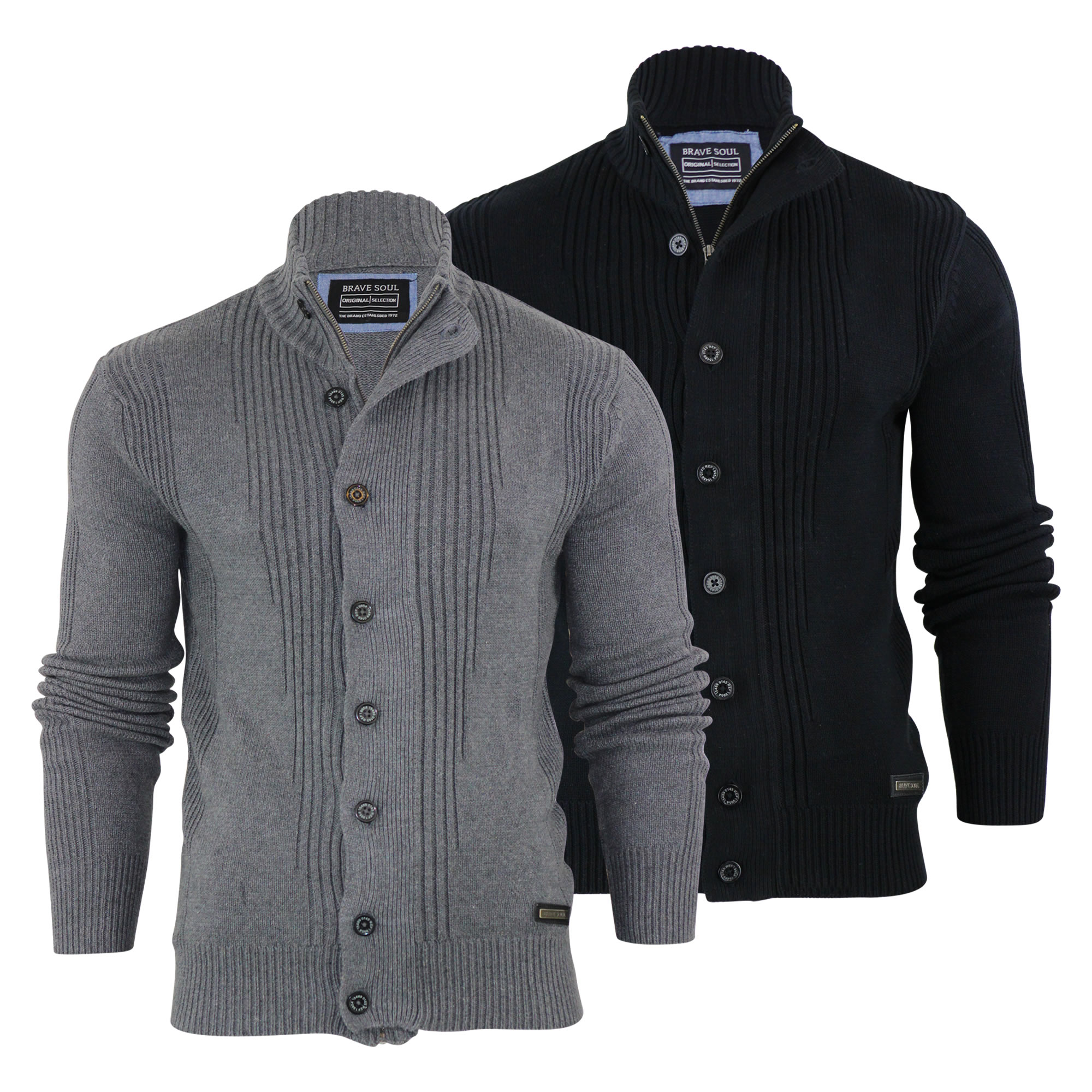 Mens Button Up Cardigan Sweater - Gray Cardigan Sweater