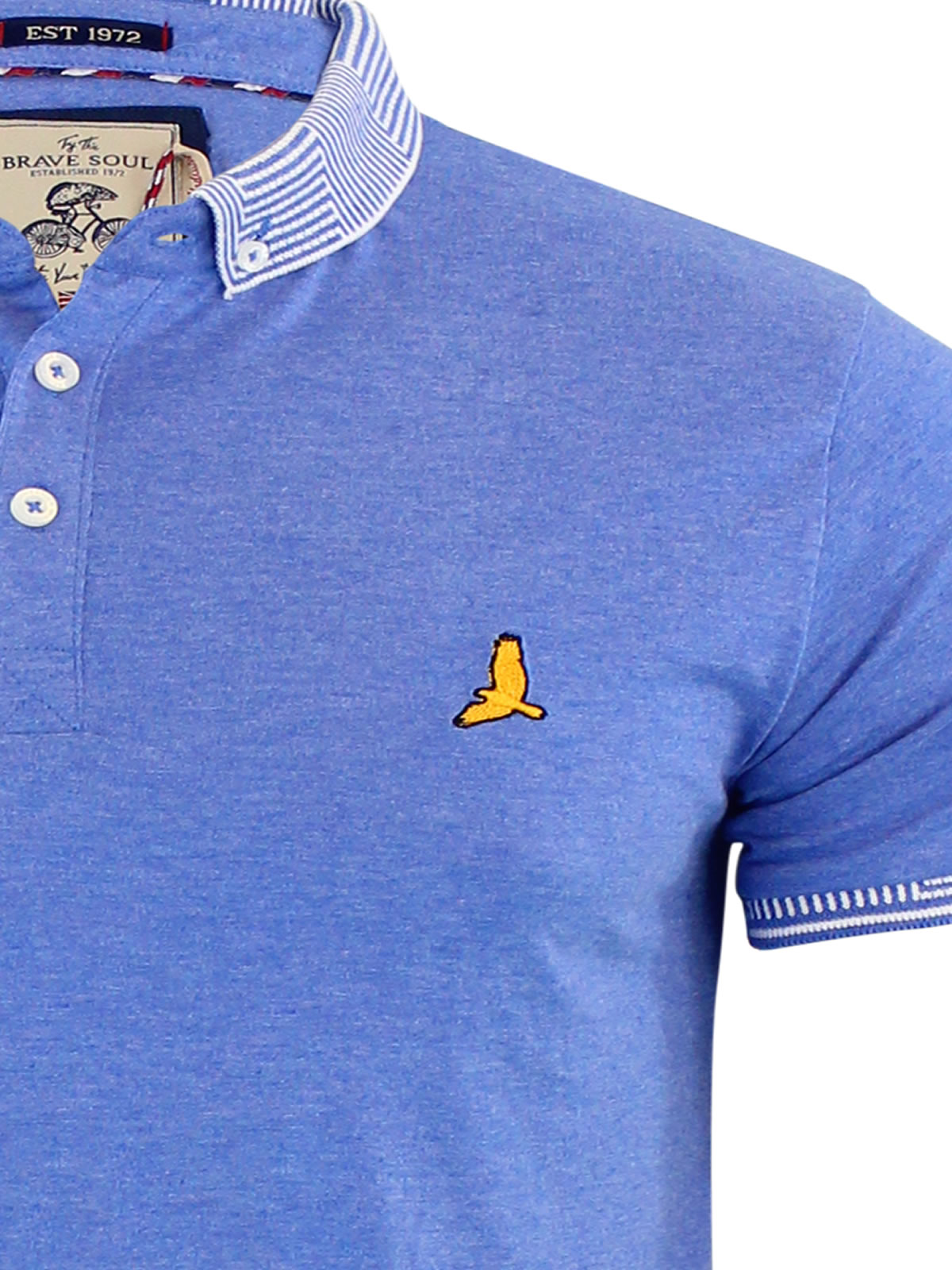 Mens-Polo-T-Shirt-Brave-Soul-Glover-Cotton-Collared-Short-Sleeve-Casual-Top thumbnail 7