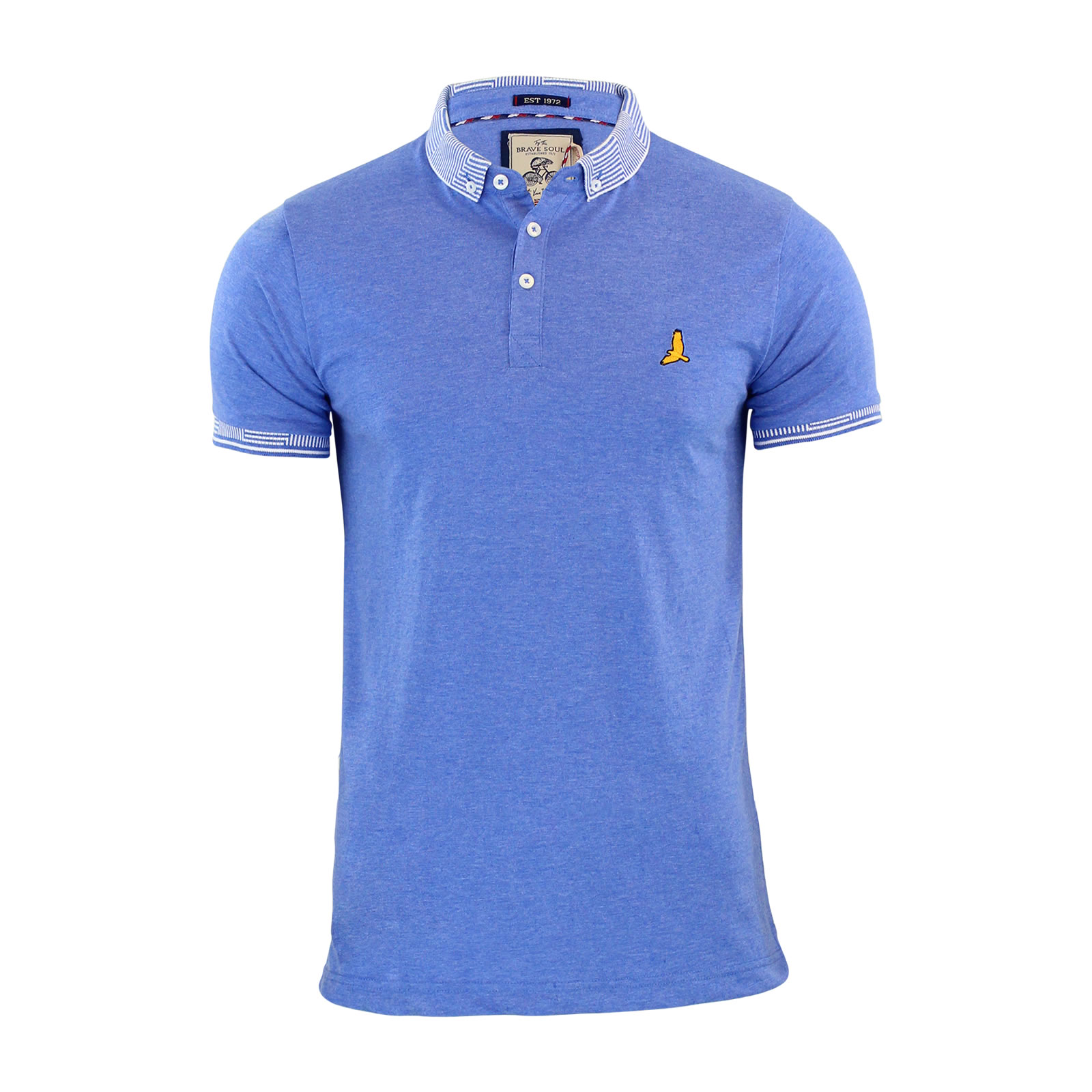 Mens polo t shirt brave soul glover cotton collared short for Von maur mens shirts
