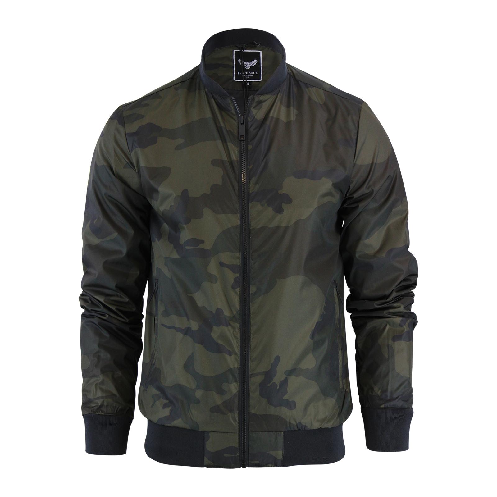 mens jacket brave soul entwistle camo military ma1. Black Bedroom Furniture Sets. Home Design Ideas