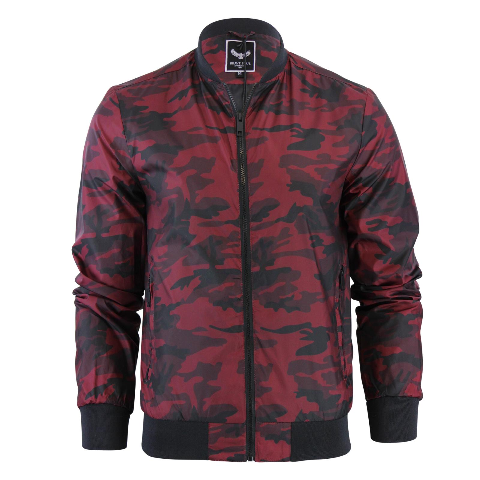 mens jacket brave soul regal camo military ma1 lightweight. Black Bedroom Furniture Sets. Home Design Ideas