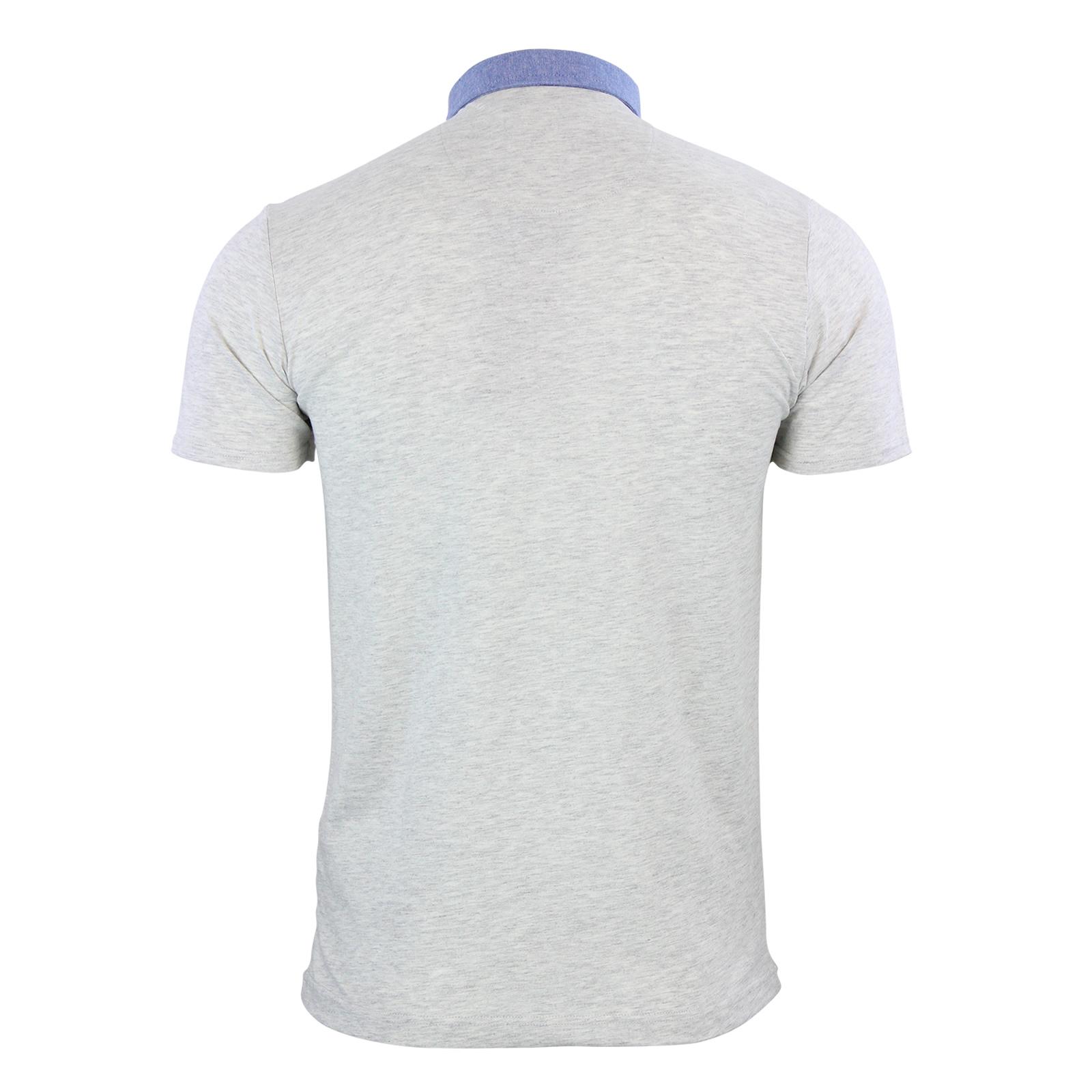 Mens-Polo-T-Shirt-Brave-Soul-Chimera-Chambray-Collared-Cotton-Casual-Top thumbnail 9