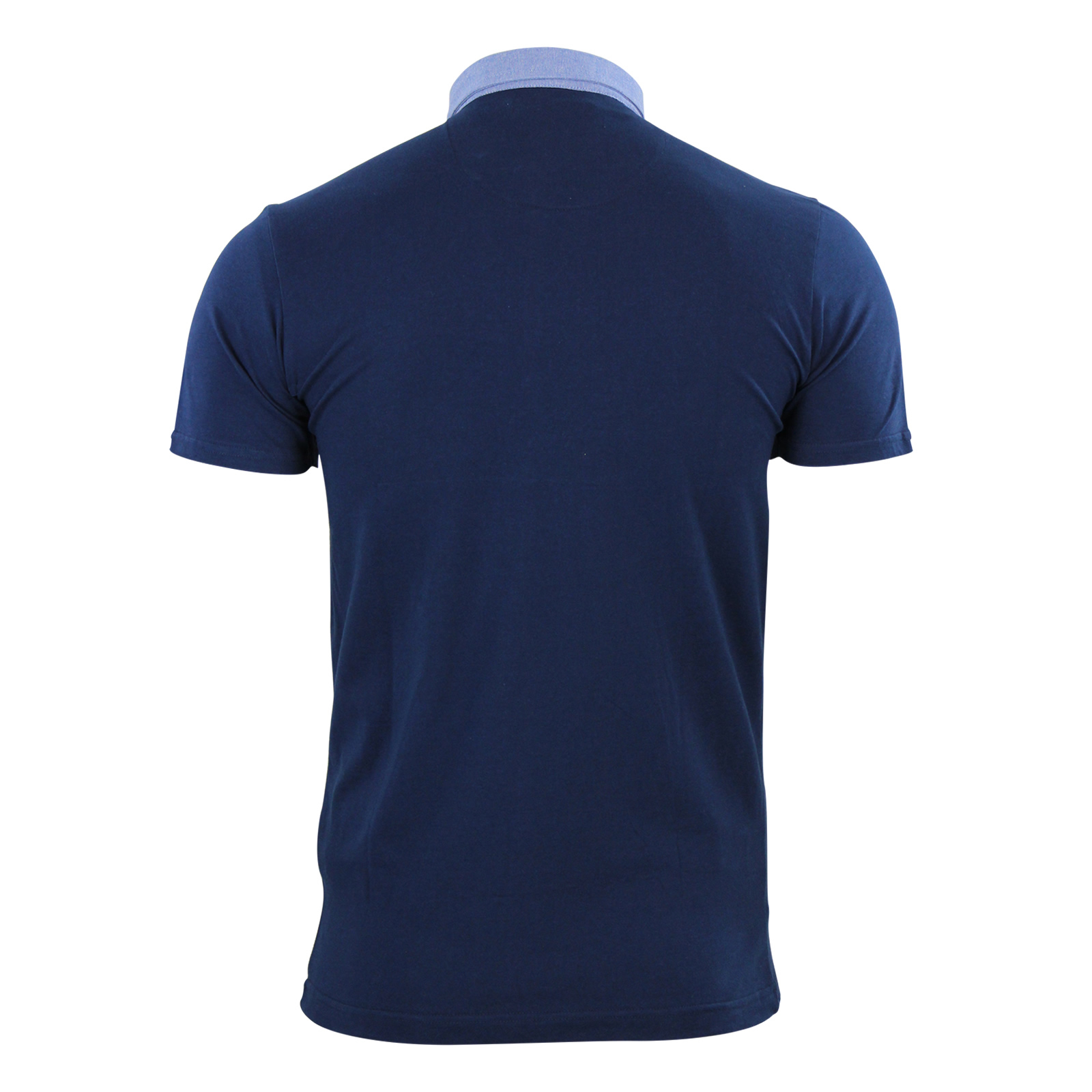 Mens-Polo-T-Shirt-Brave-Soul-Chimera-Chambray-Collared-Cotton-Casual-Top thumbnail 21