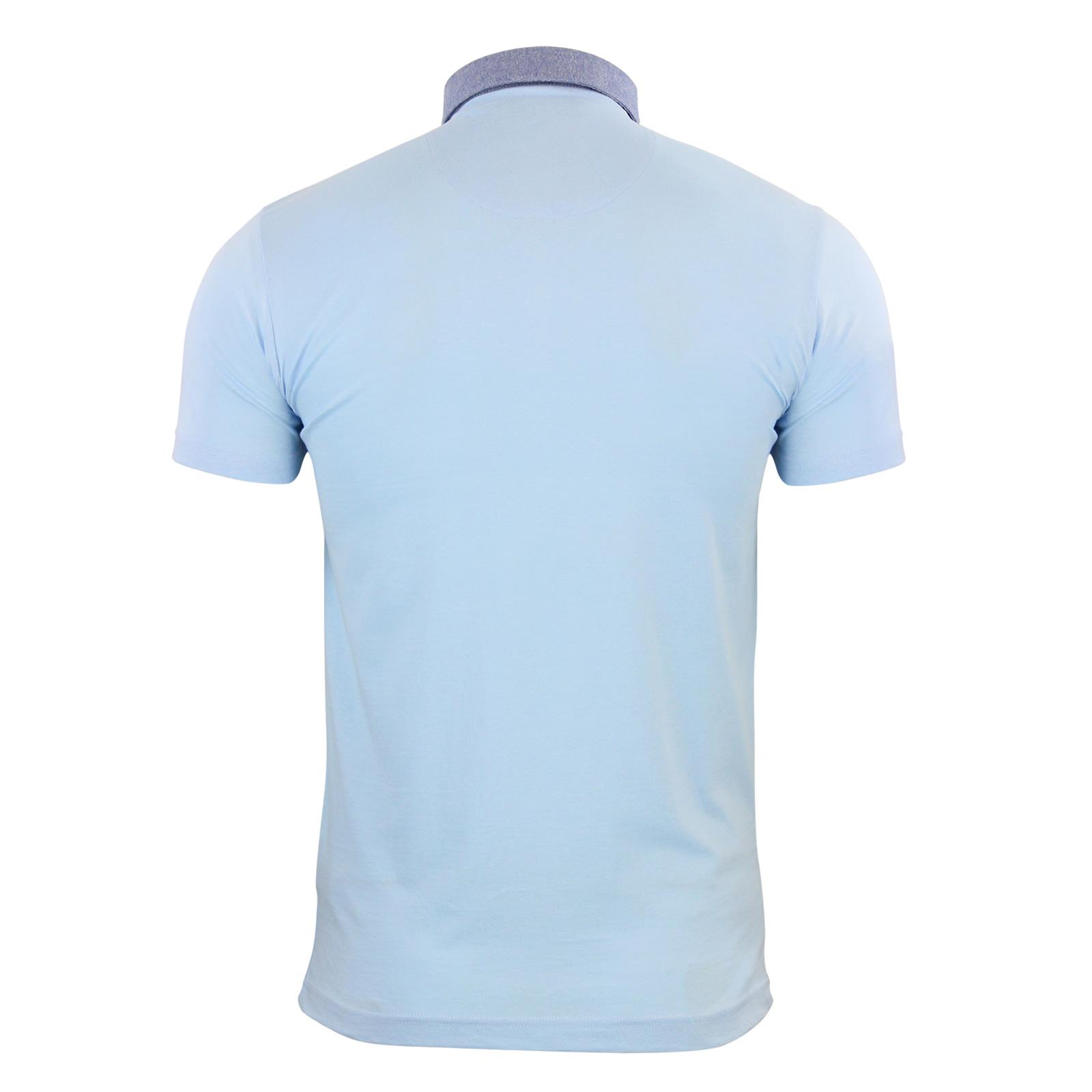 Mens-Polo-T-Shirt-Brave-Soul-Chimera-Chambray-Collared-Cotton-Casual-Top thumbnail 24